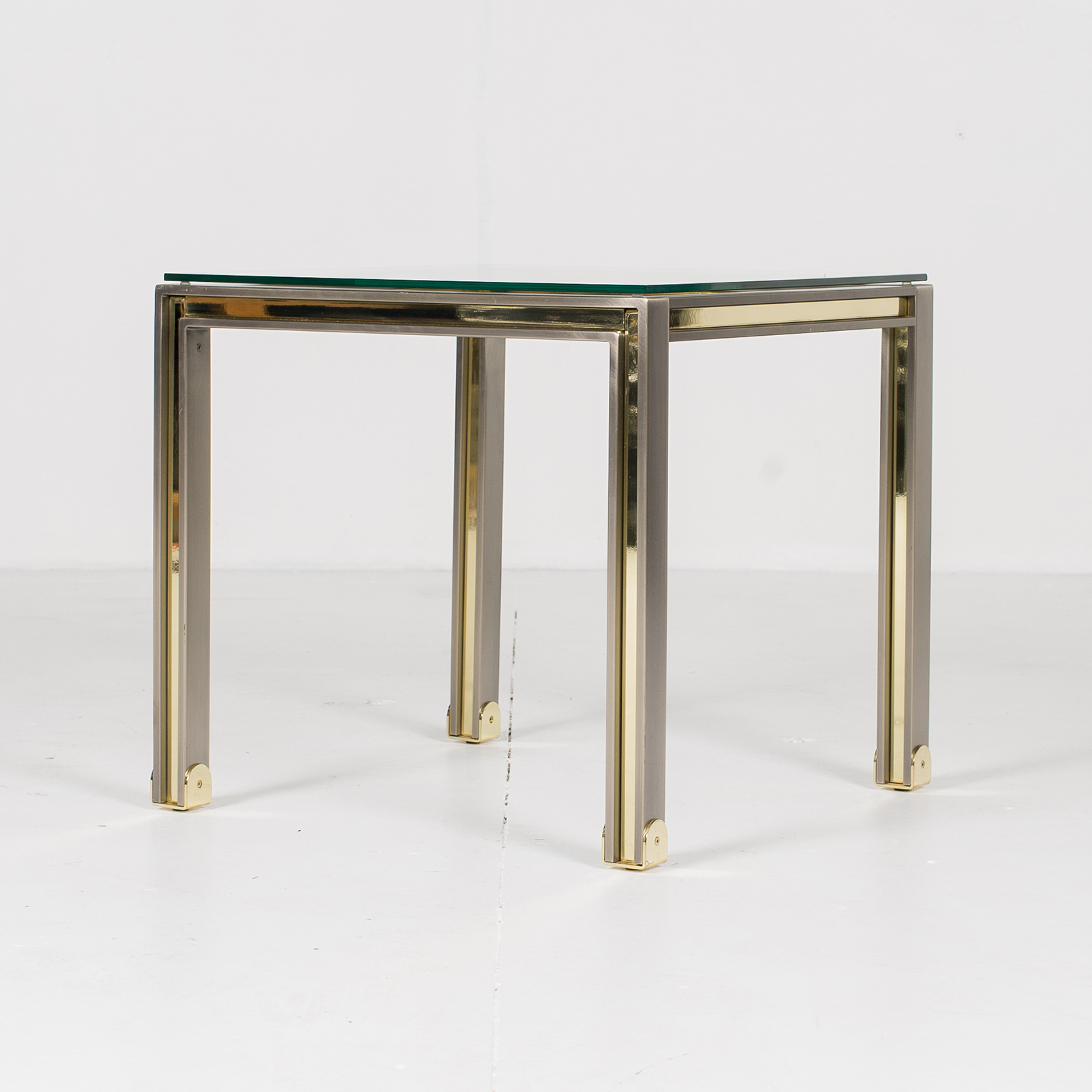 Side Table In Chrome And Brass By Romeo Rega, 1960s, Italy 2855