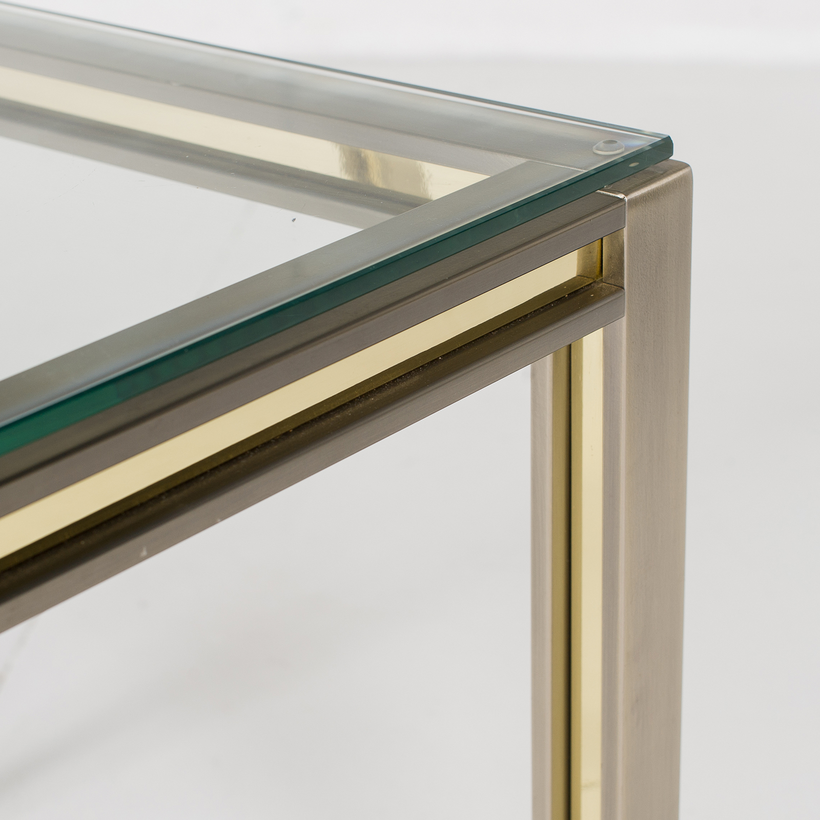 Side Table In Chrome And Brass By Romeo Rega, 1960s, Italy 2859