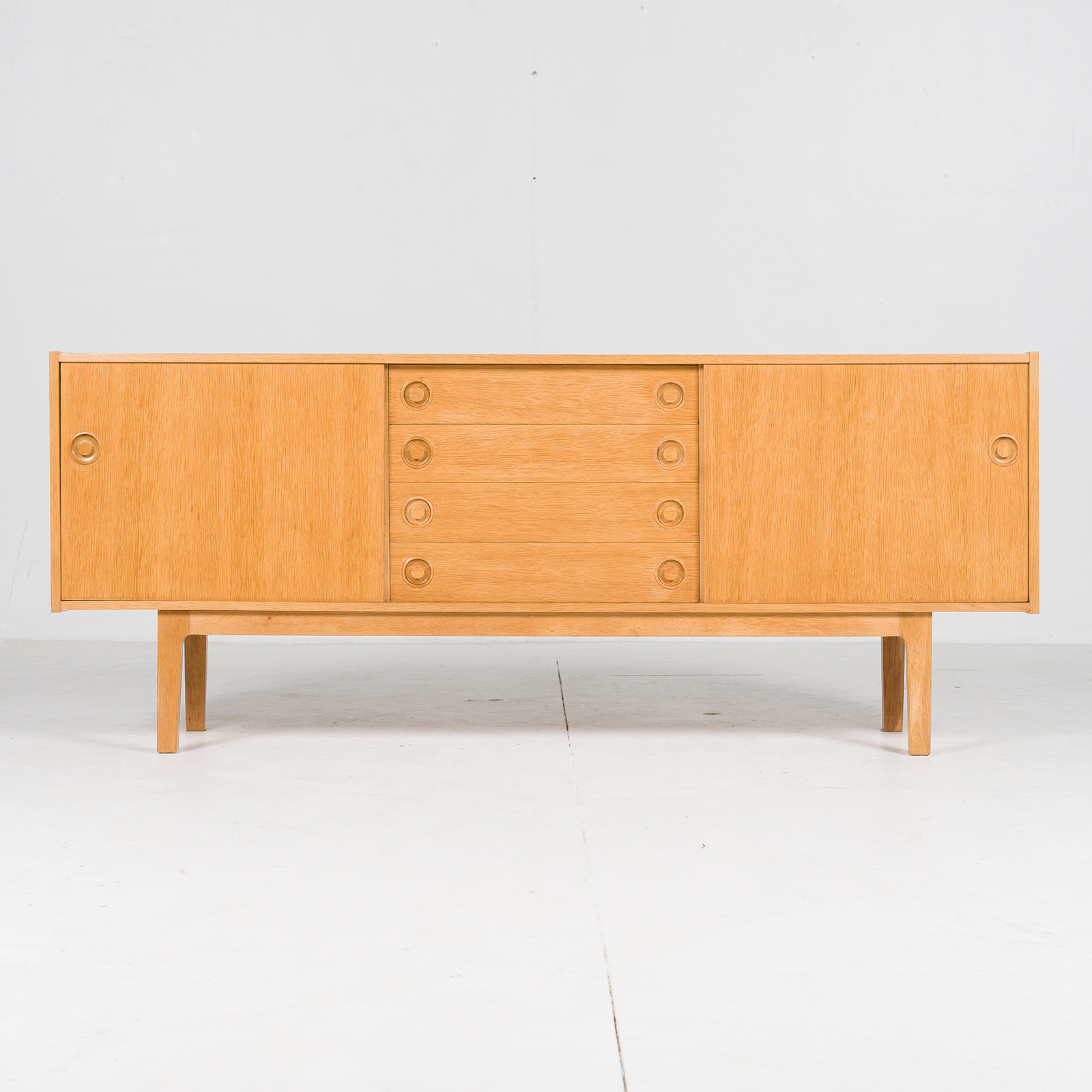 Sideboard In Oak With Drawers And Sliding Doors, 1960s, Denmark397
