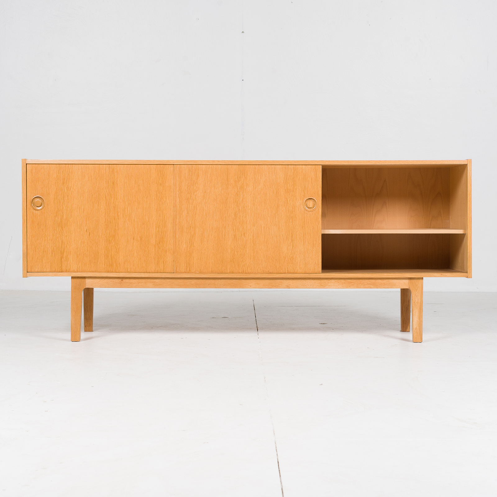 Sideboard In Oak With Drawers And Sliding Doors, 1960s, Denmark400