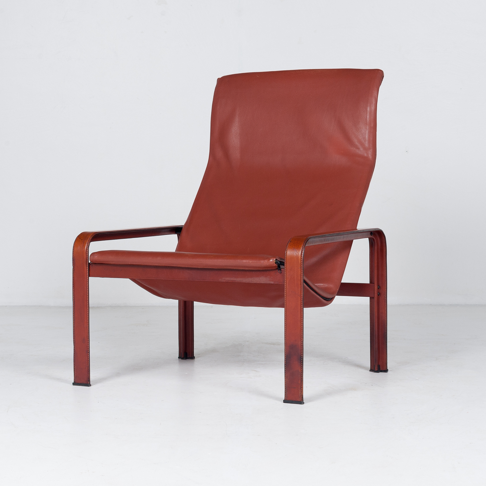 Armchair In Tan Leather By Matteo Grassi (mt Ac 194 128 It) 952