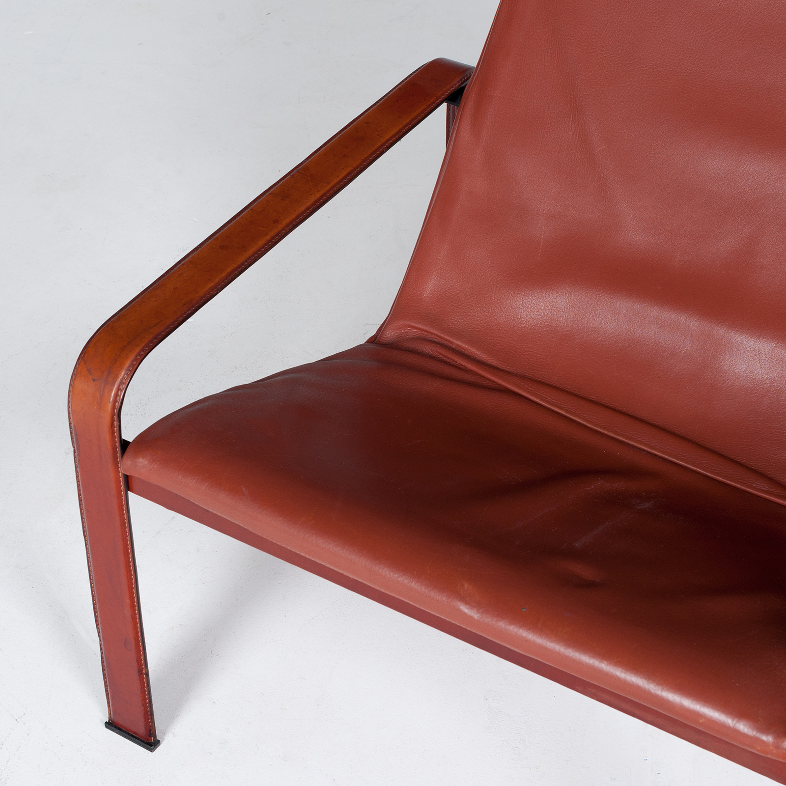 Armchair In Tan Leather By Matteo Grassi (mt Ac 194 128 It) 954