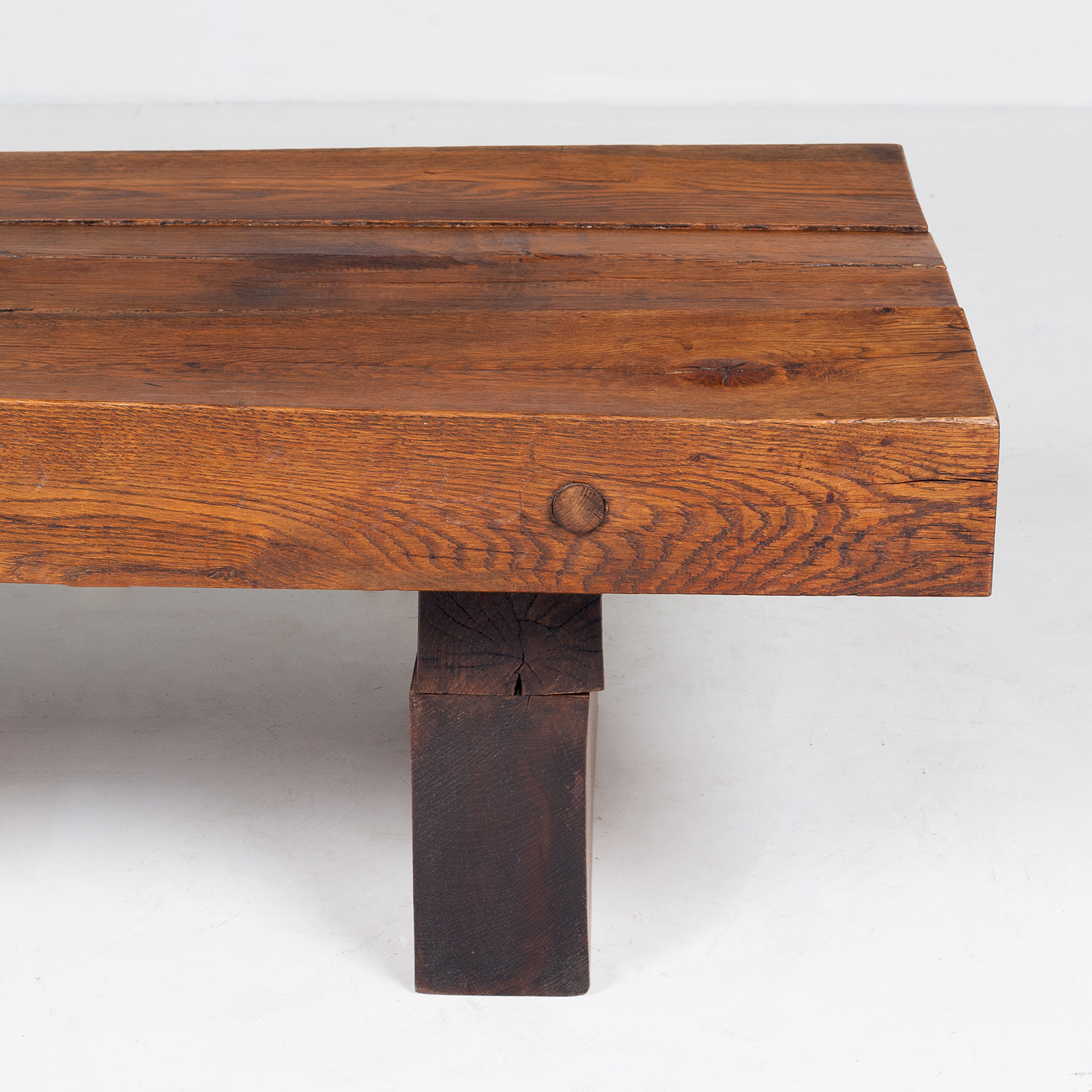 Brutalist Style Coffee Table In Timber, 1960s, The Netherlands 797