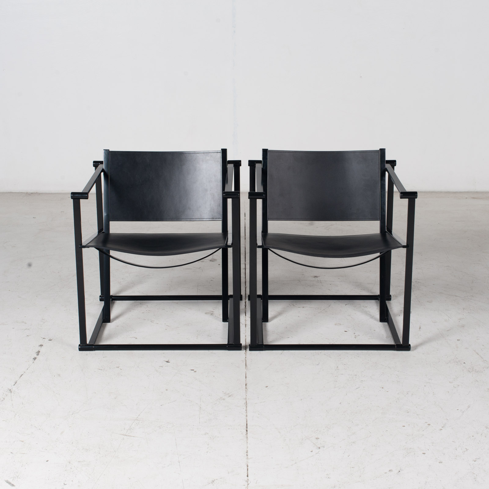 Pair Of Fm60 Cubic Chairs With Table By Radboud Van Beekum For Pastoe, 1980s, The Netherlands 13