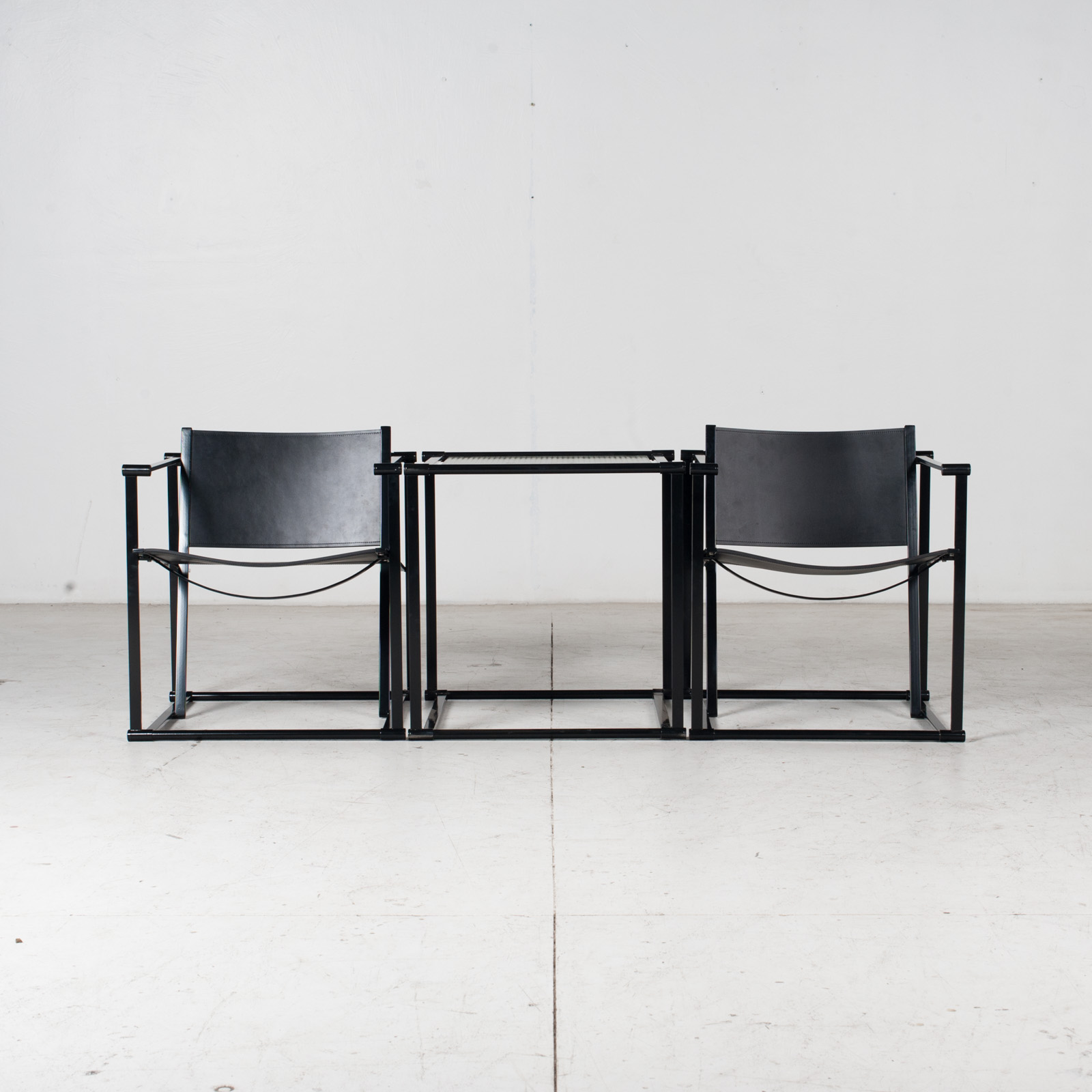 Pair Of Fm60 Cubic Chairs With Table By Radboud Van Beekum For Pastoe, 1980s, The Netherlands 15