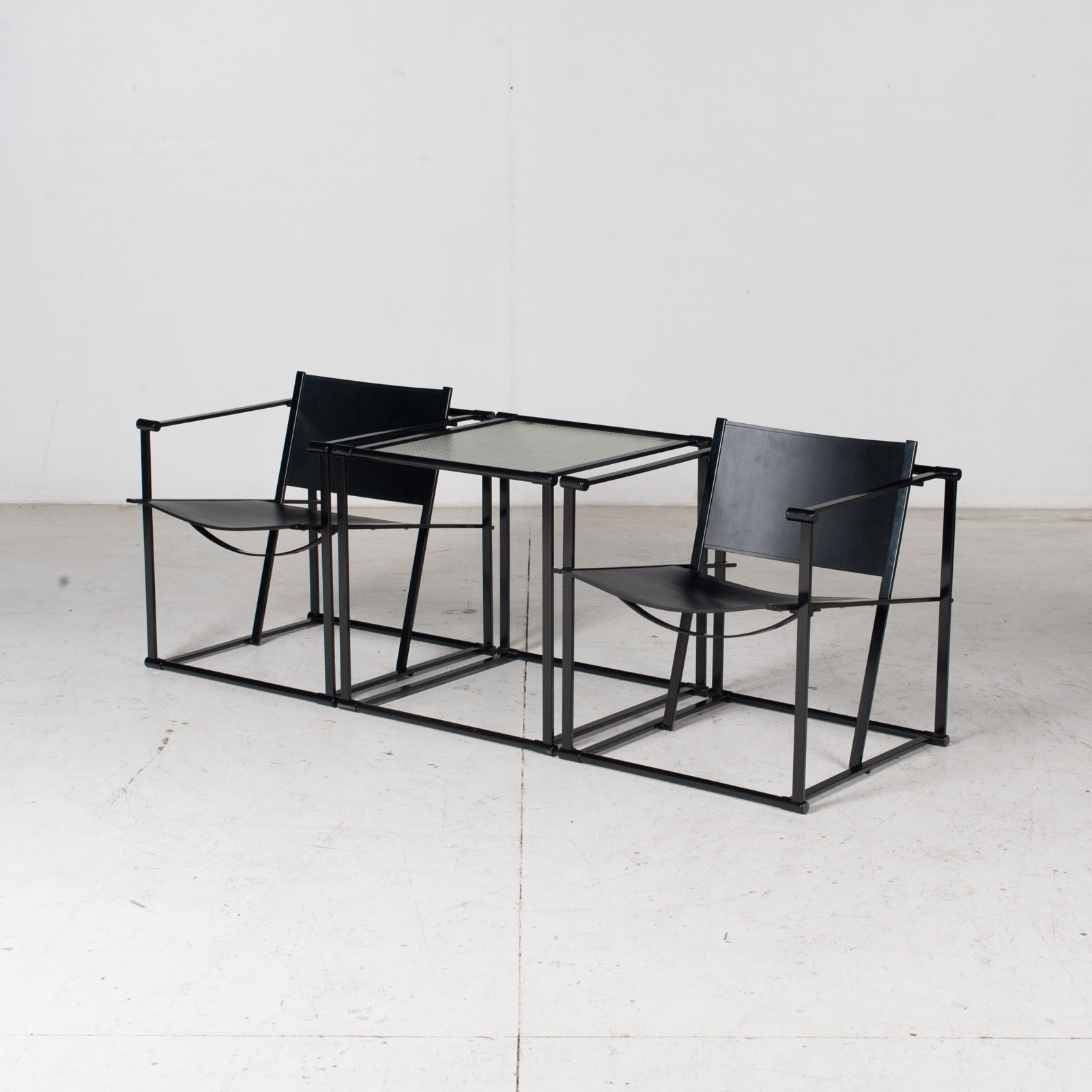 Pair Of Fm60 Cubic Chairs With Table By Radboud Van Beekum For Pastoe, 1980s, The Netherlands 16