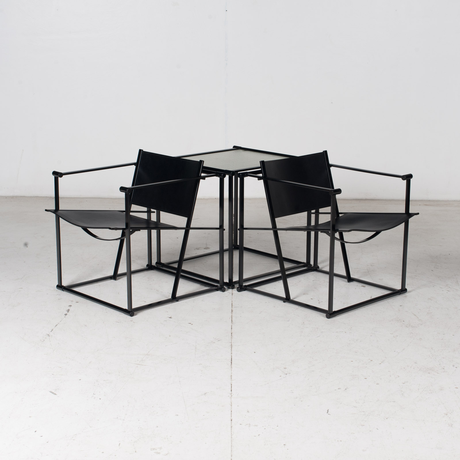 Pair Of Fm60 Cubic Chairs With Table By Radboud Van Beekum For Pastoe, 1980s, The Netherlands 19