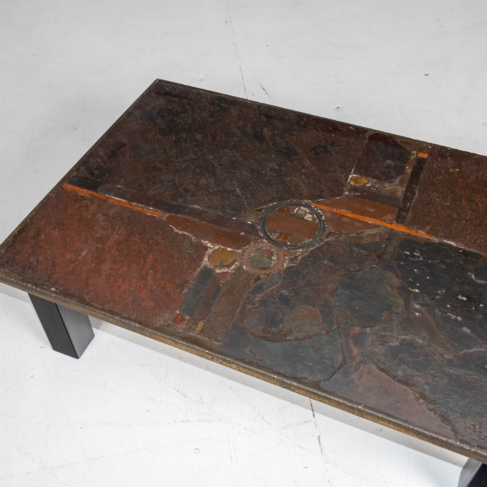 Rectangular Coffee Table By Paul Kingma In Stone And Slate, 1970s, The Netherlands 00004