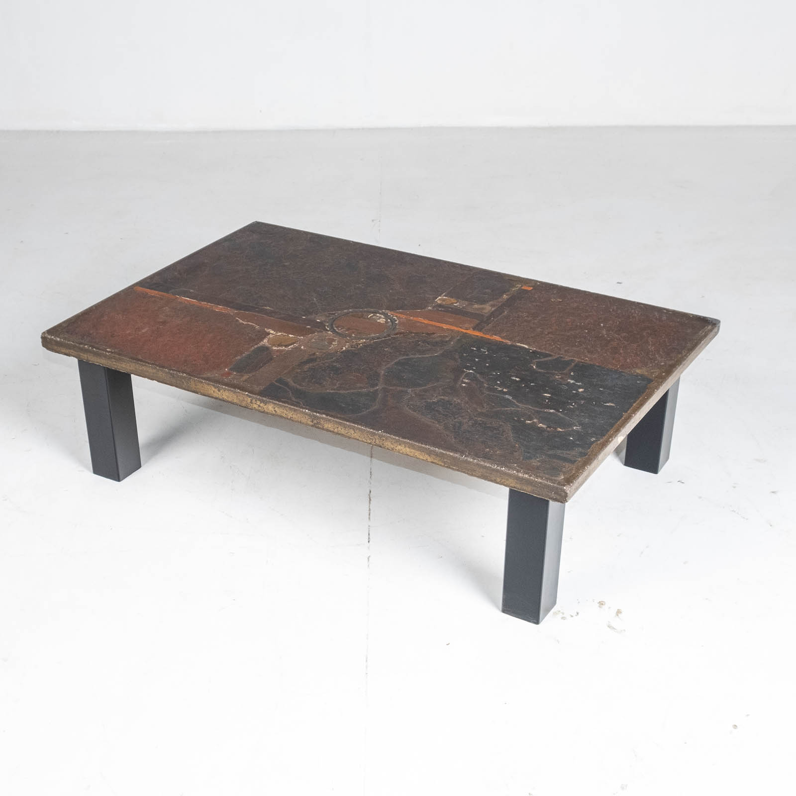 Rectangular Coffee Table By Paul Kingma In Stone And Slate, 1970s, The Netherlands 00005