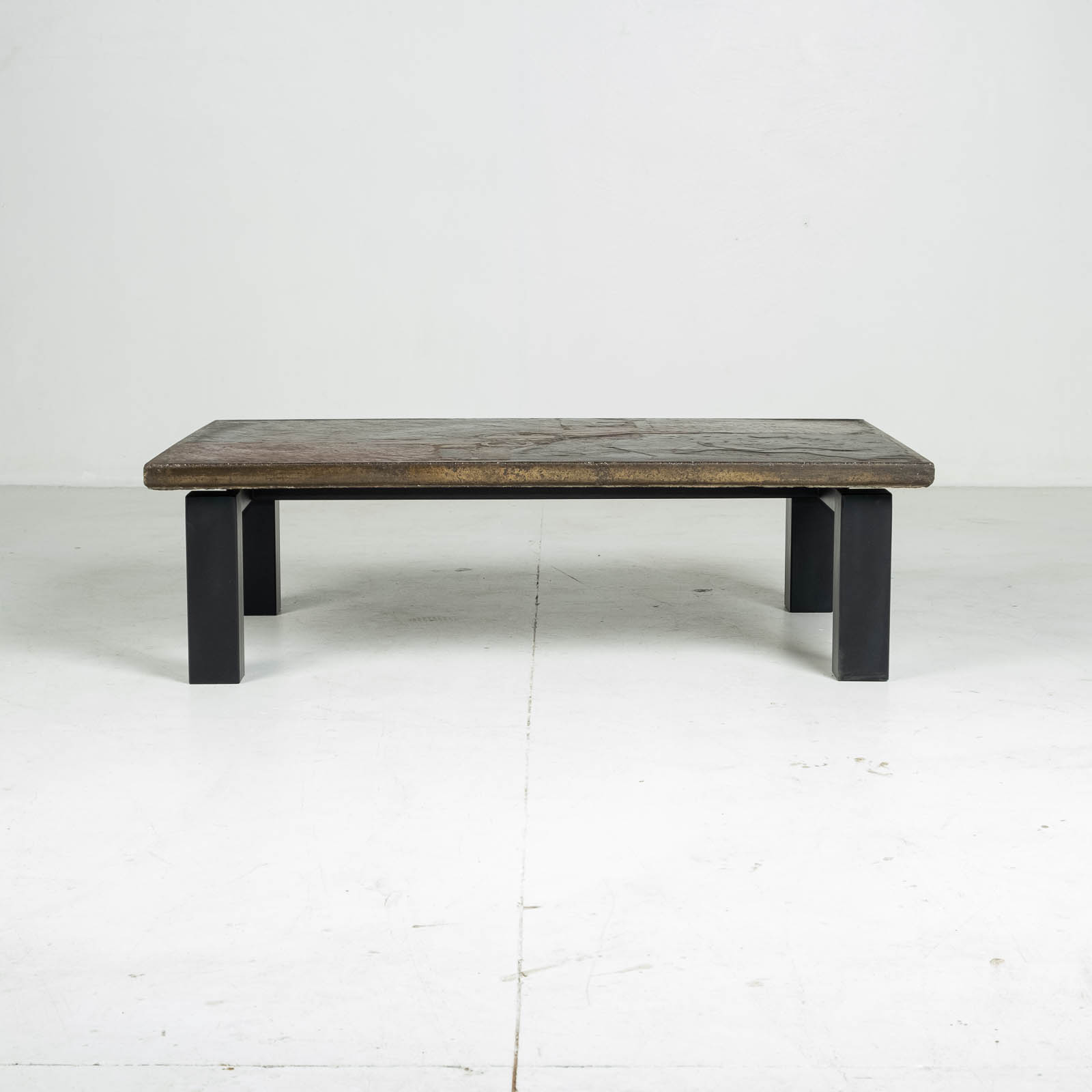 Rectangular Coffee Table By Paul Kingma In Stone And Slate, 1970s, The Netherlands 00007
