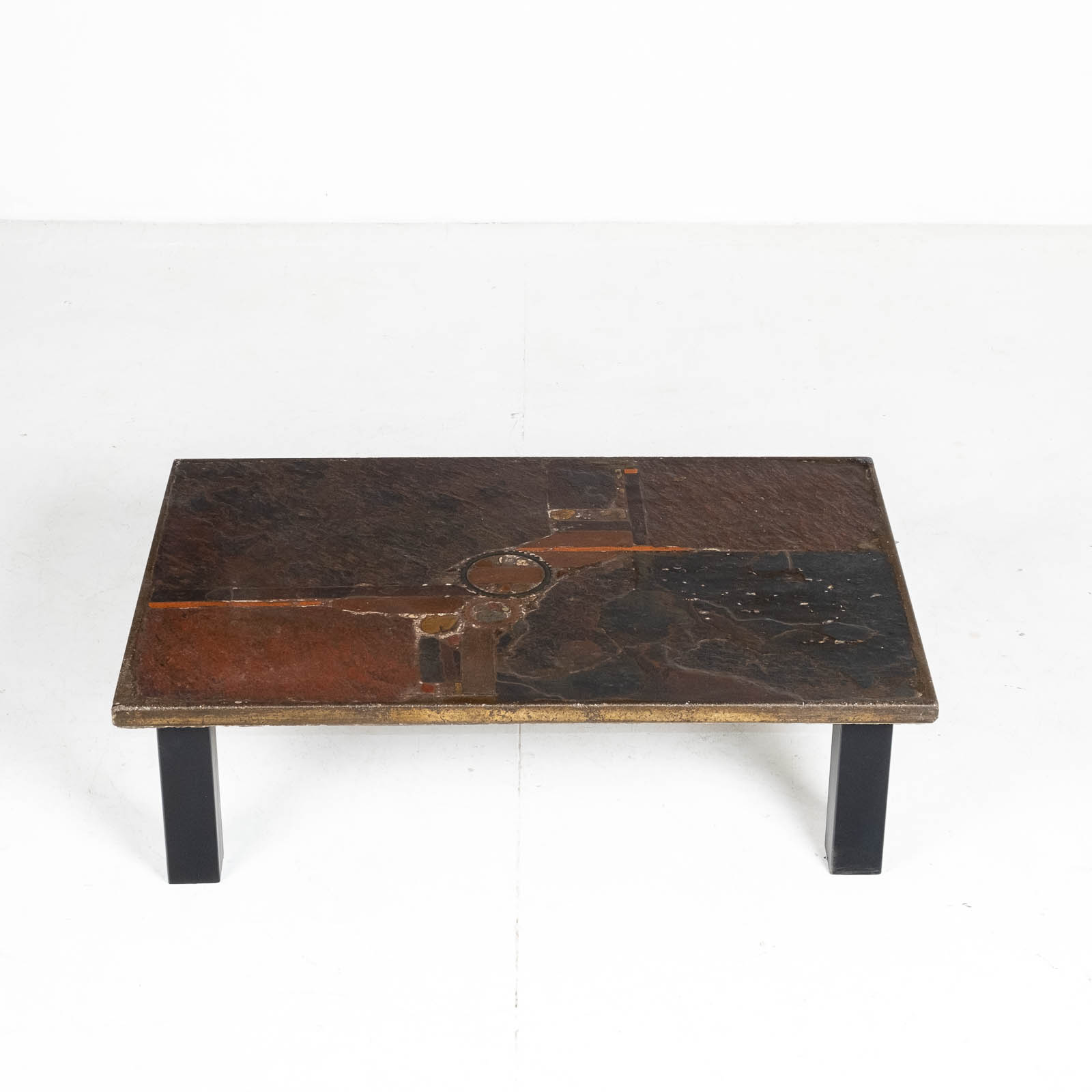 Rectangular Coffee Table By Paul Kingma In Stone And Slate, 1970s, The Netherlands 00008
