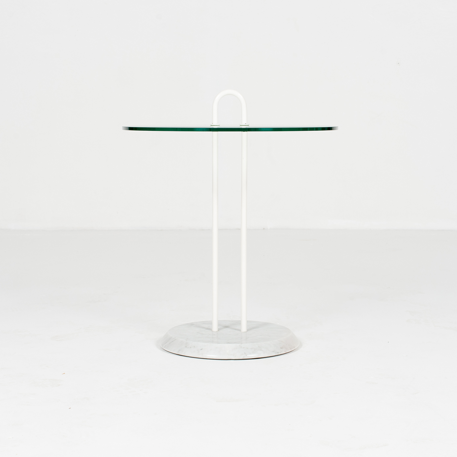 Round Side Table In Glass And Marble By Angelo Mangiarotti (mt Ct 195 908 It) 2