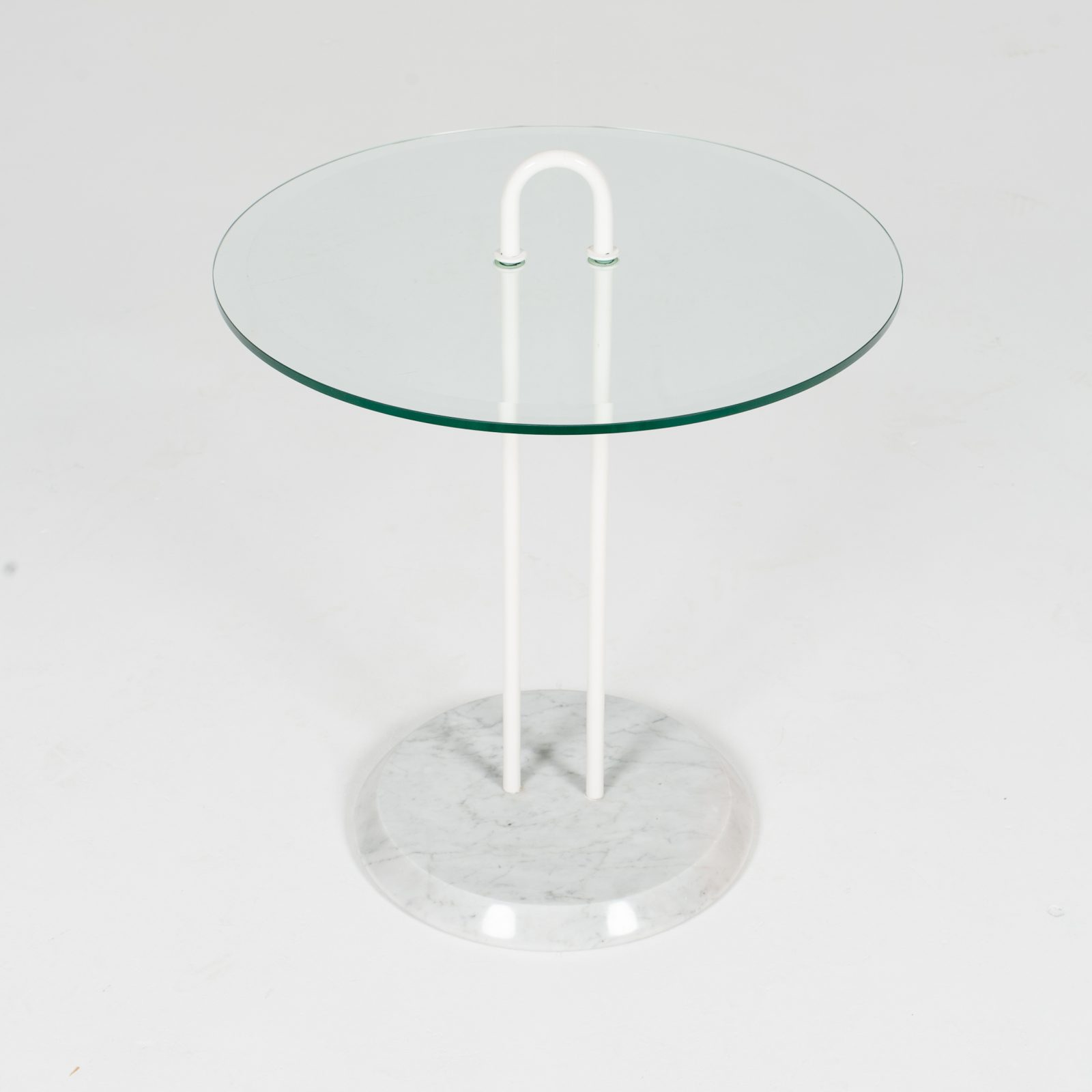 Round Side Table In Glass And Marble By Angelo Mangiarotti (mt Ct 195 908 It) 3