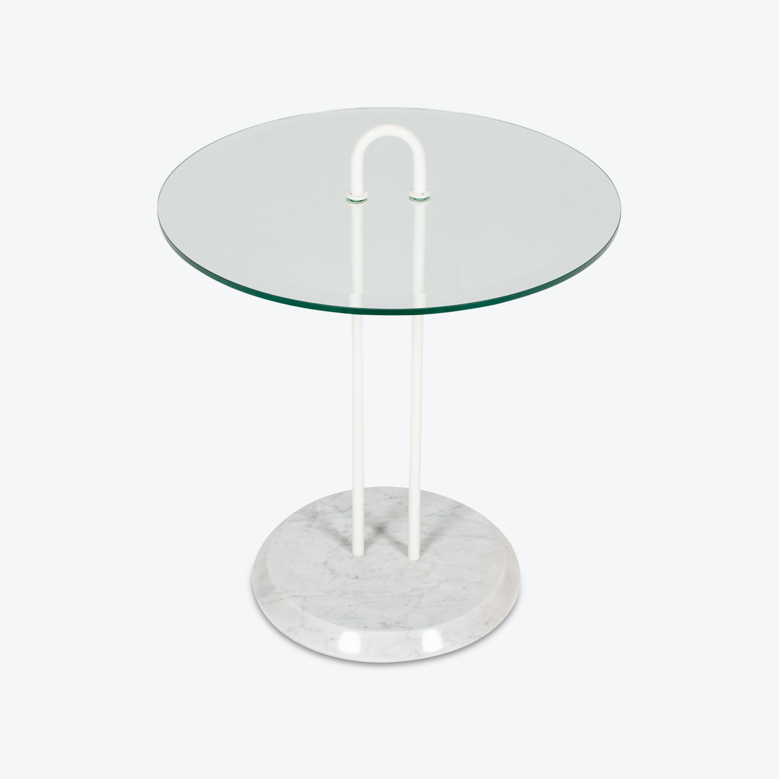 Round Side Table In Glass And Marble By Angelo Mangiarotti (mt Ct 195 908 It) 3 Hero
