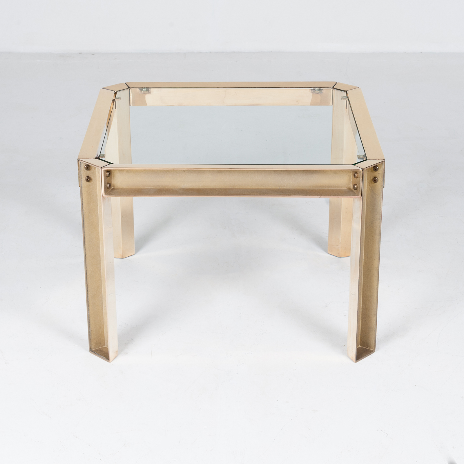 Square Side Table With Clear Glass Top By Peter Ghyczy, 1970s, The Netherlands 35