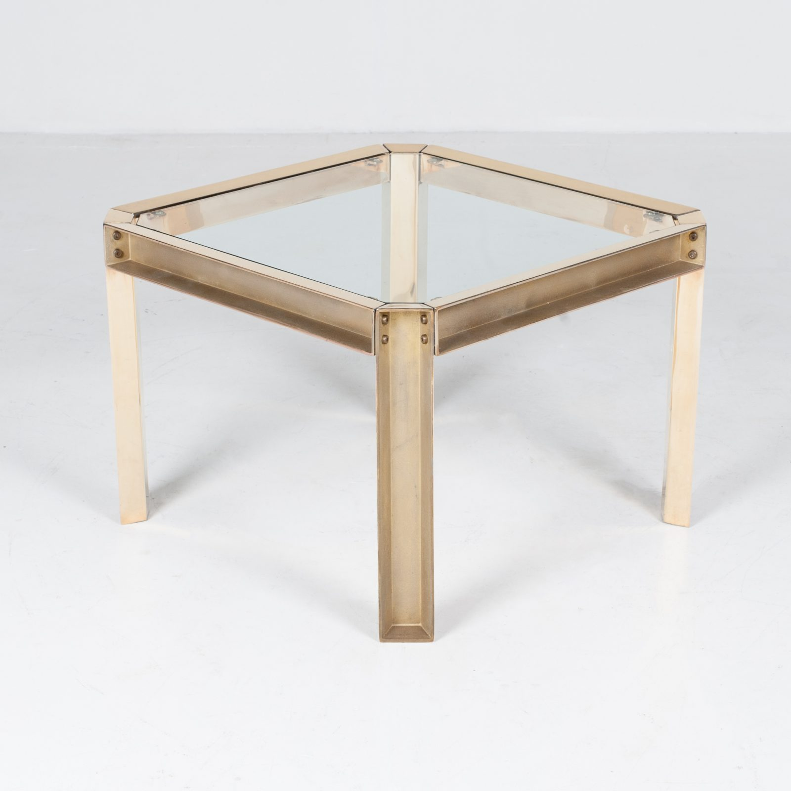 Square Side Table With Clear Glass Top By Peter Ghyczy, 1970s, The Netherlands 37