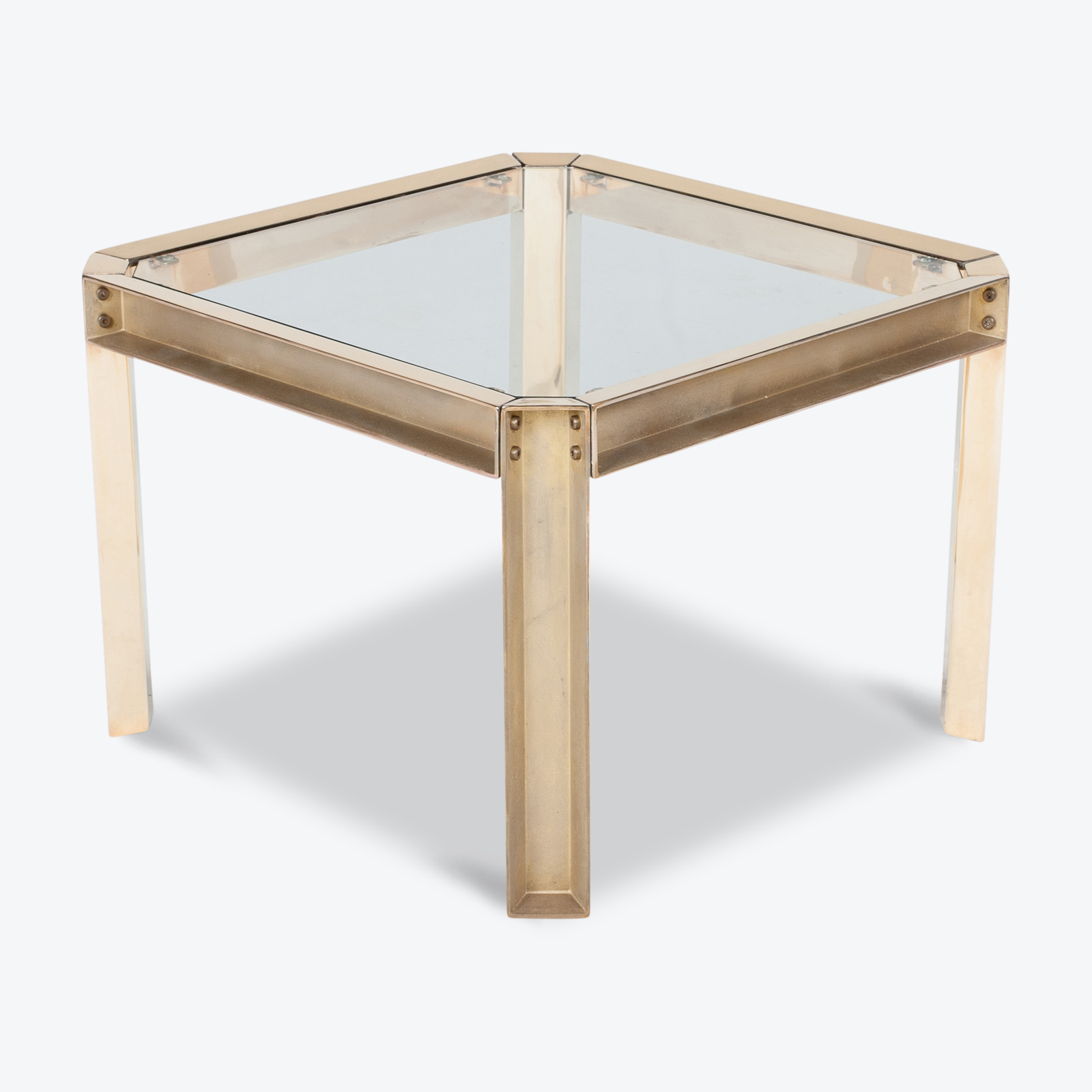 Square Side Table With Clear Glass Top By Peter Ghyczy, 1970s, The Netherlands Hero