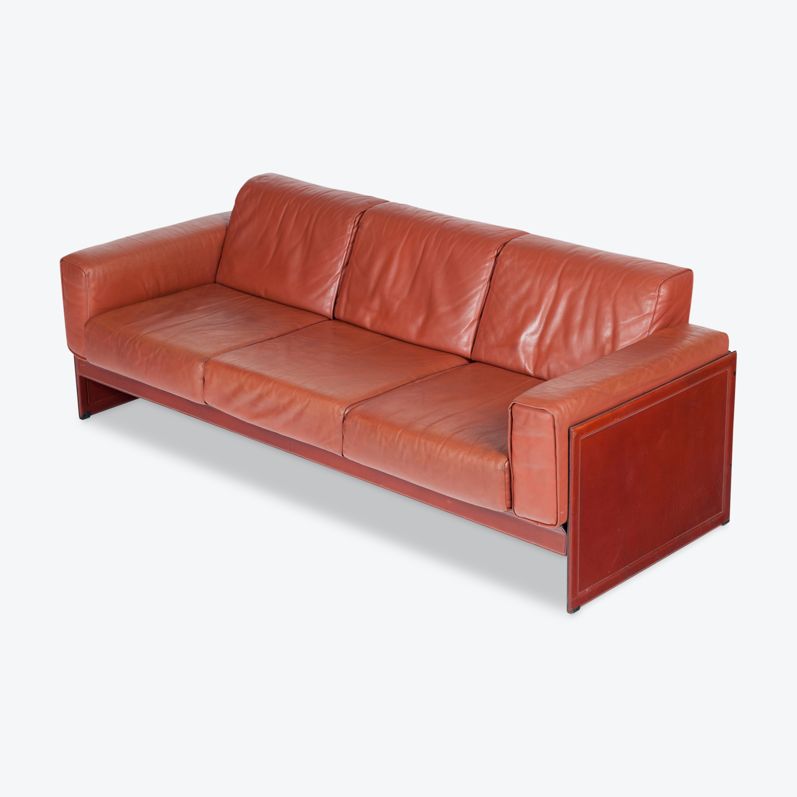 3 Seat Sofa In Leather By Matteo Grassi, 1980s, Italy Hero