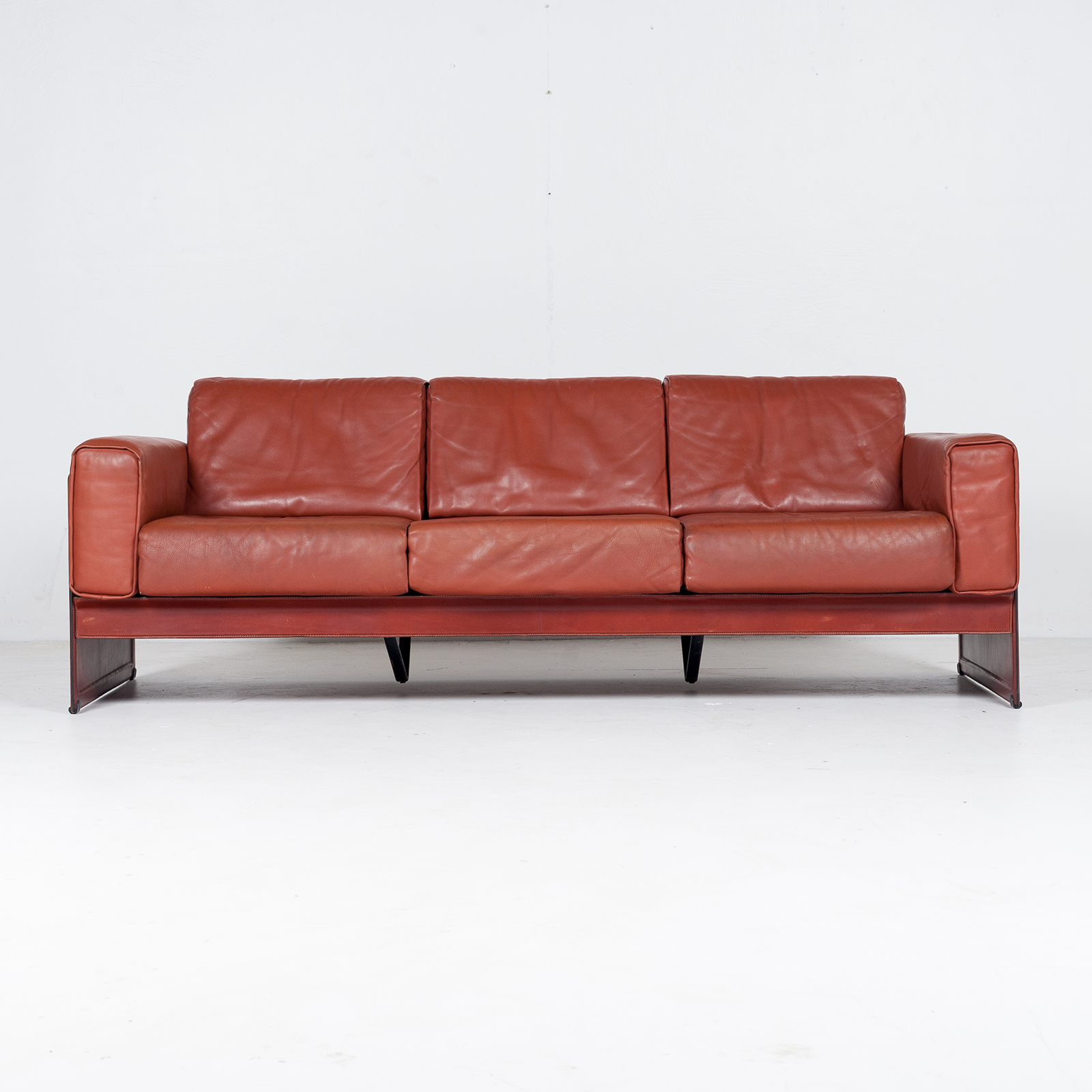3 Seat Sofa In Leather By Matteo Grassi, 1980s, Italy46