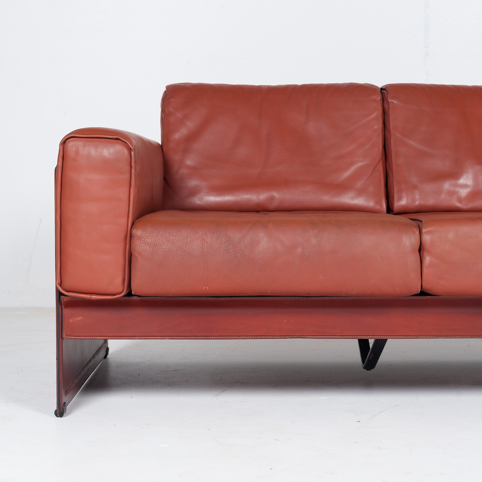 3 Seat Sofa In Leather By Matteo Grassi, 1980s, Italy49