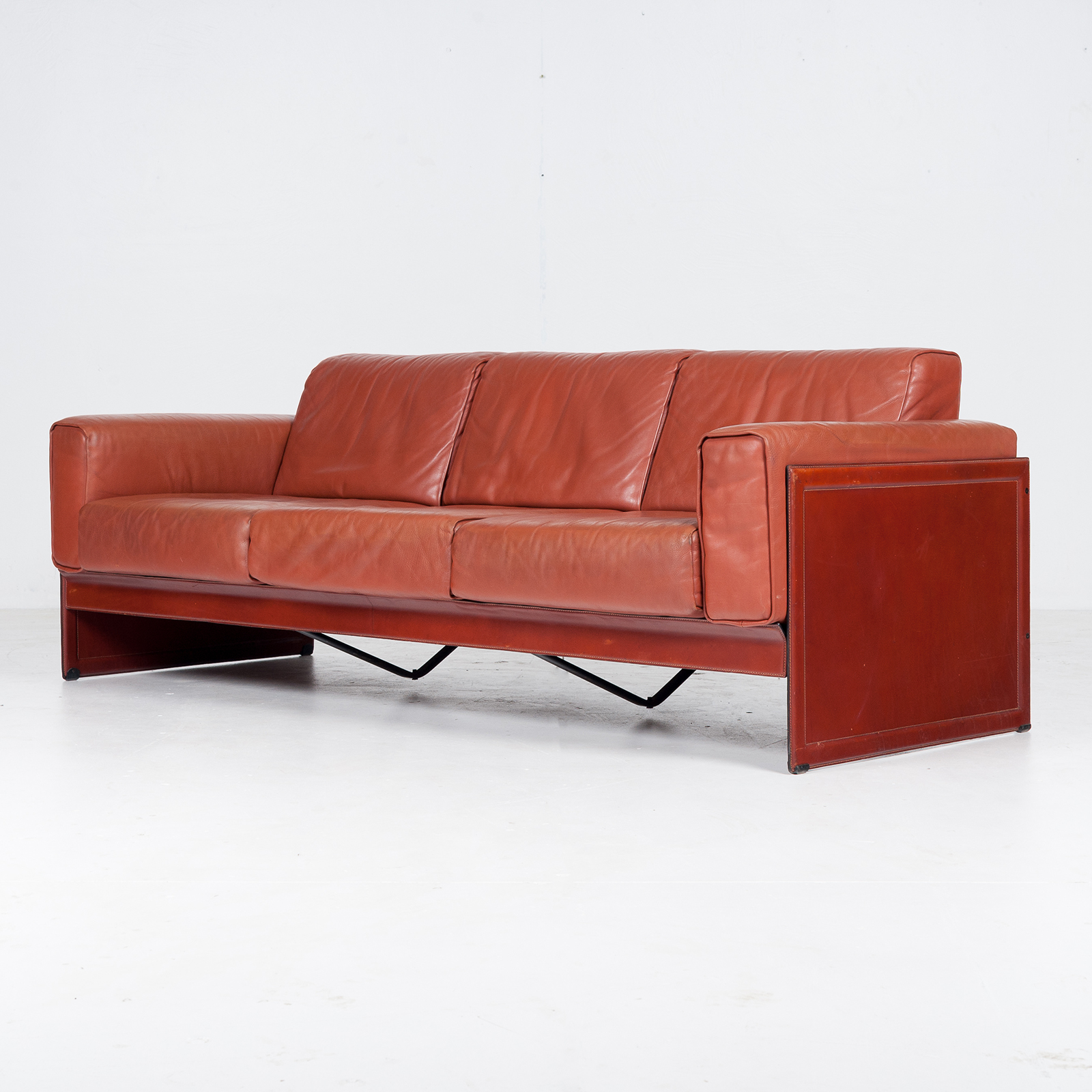 3 Seat Sofa In Leather By Matteo Grassi, 1980s, Italy50
