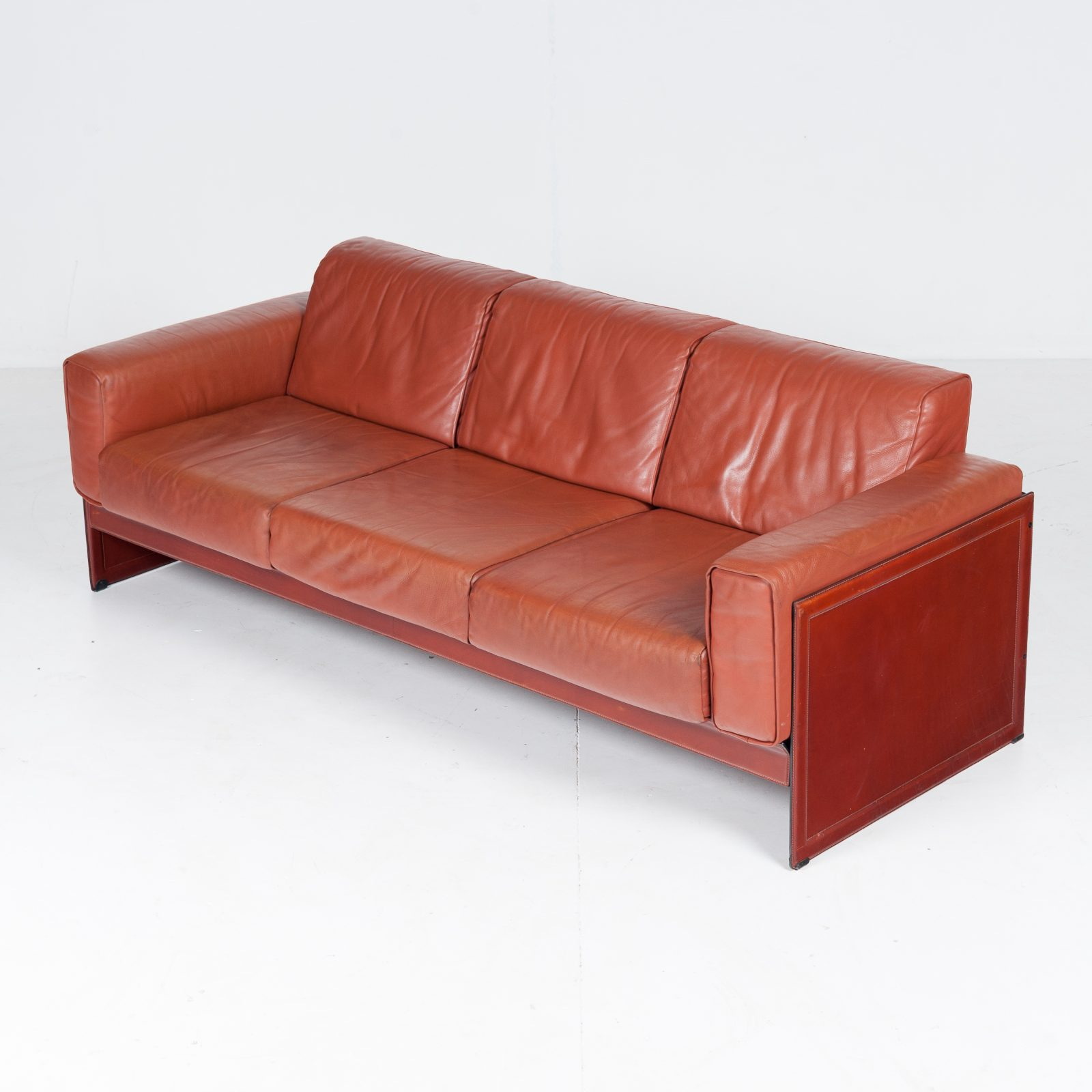 3 Seat Sofa In Leather By Matteo Grassi, 1980s, Italy51