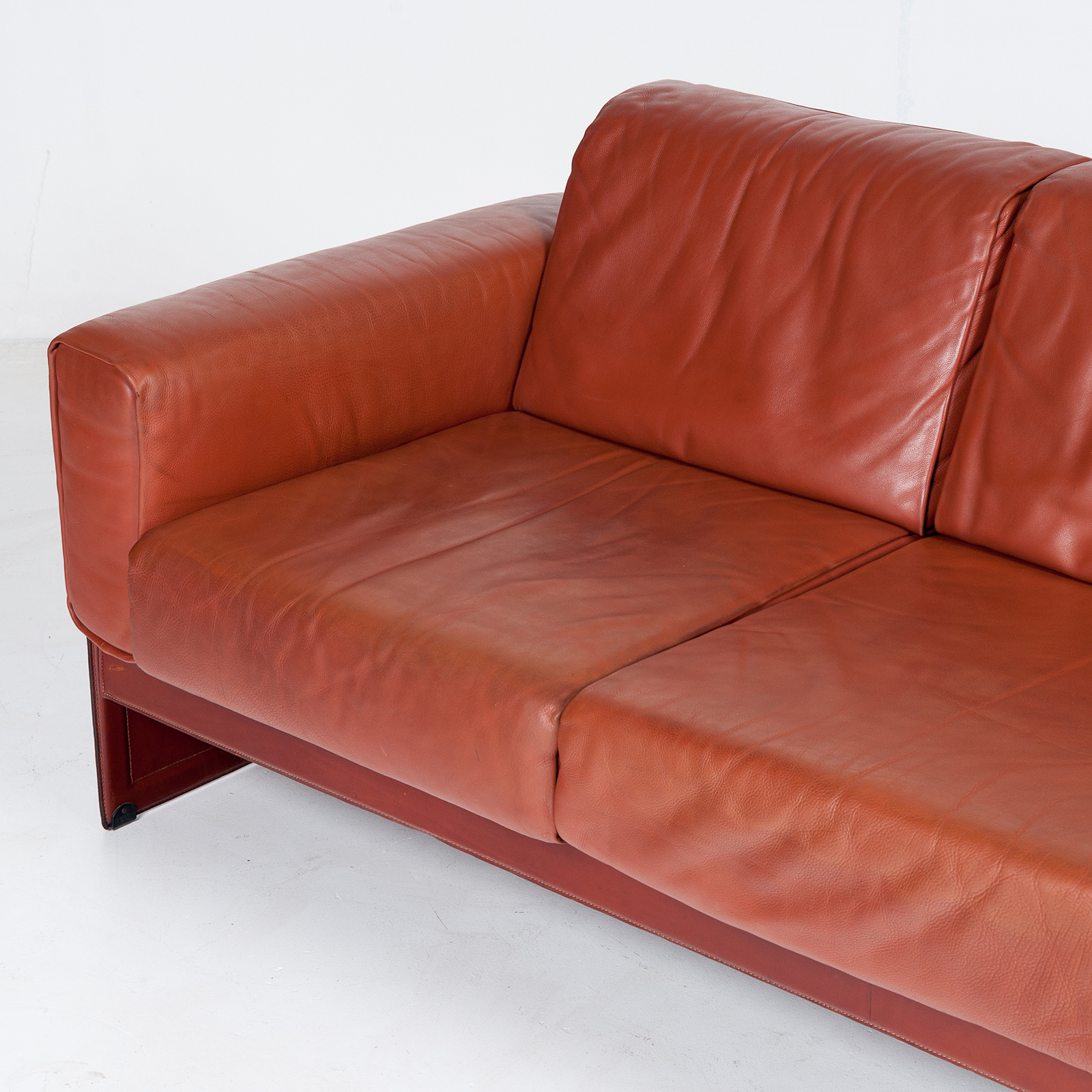 3 Seat Sofa In Leather By Matteo Grassi, 1980s, Italy54
