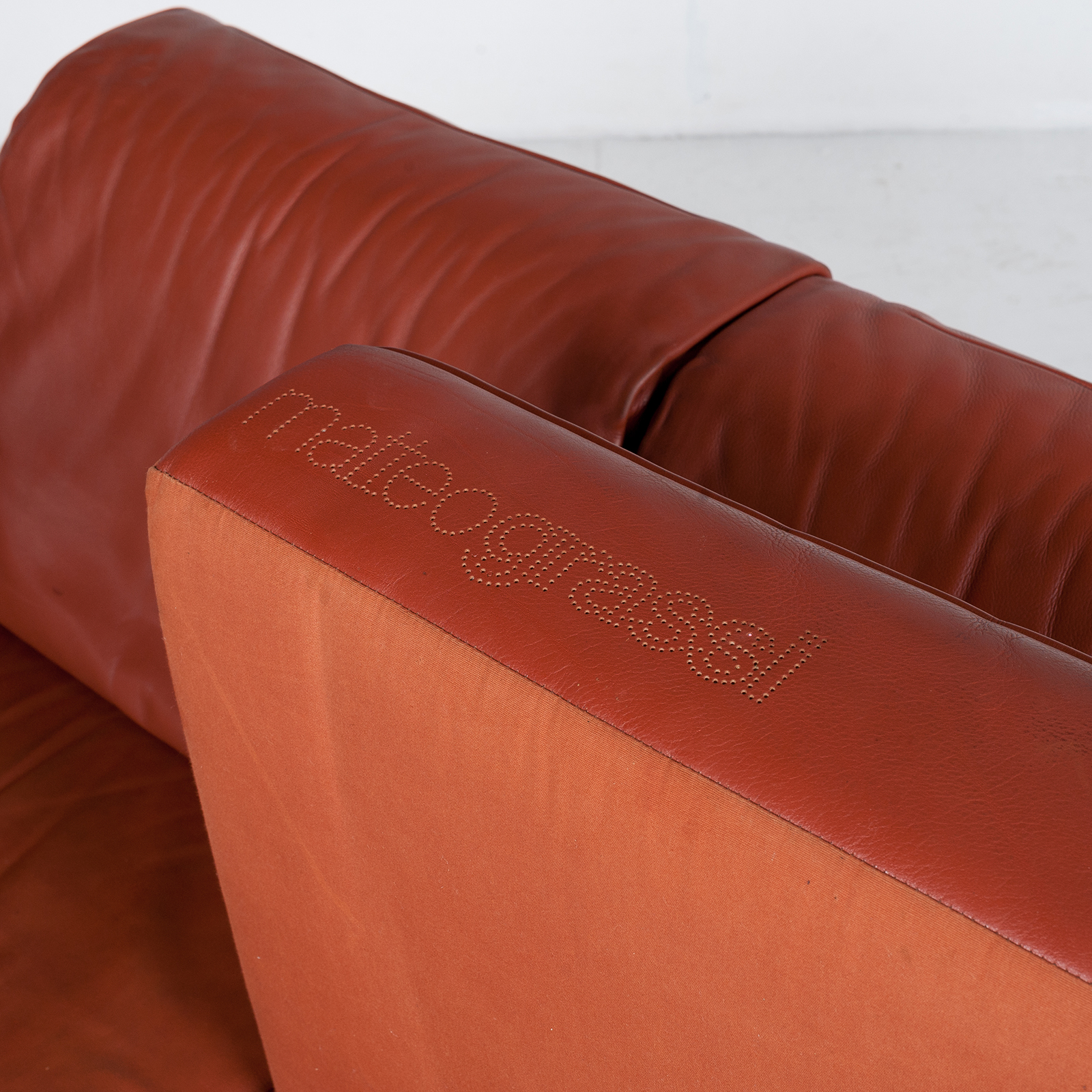 3 Seat Sofa In Leather By Matteo Grassi, 1980s, Italy56
