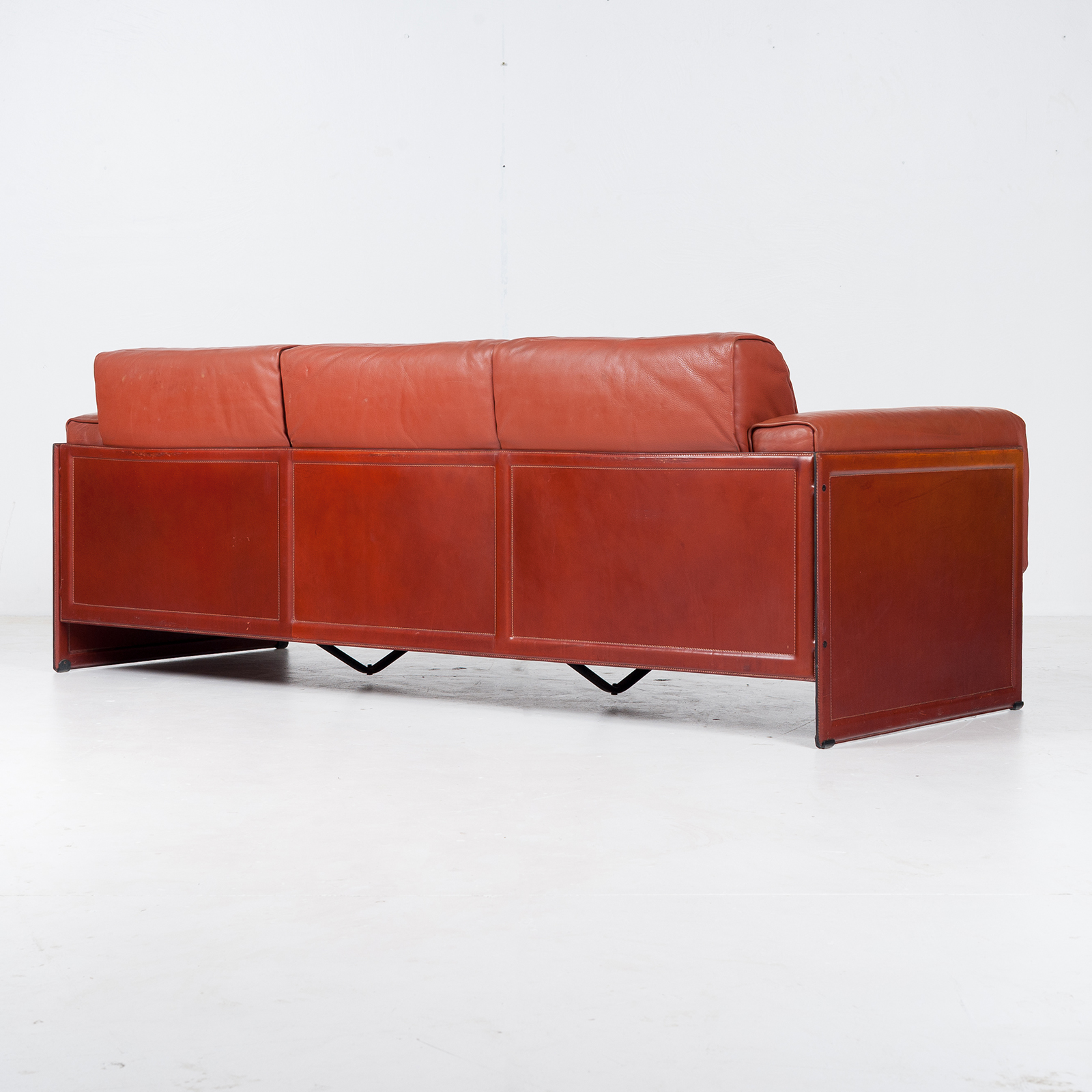 3 Seat Sofa In Leather By Matteo Grassi, 1980s, Italy59