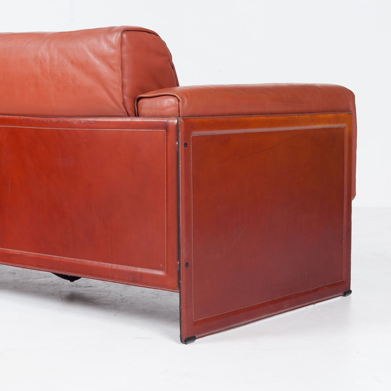 3 Seat Sofa In Leather By Matteo Grassi, 1980s, Italy60