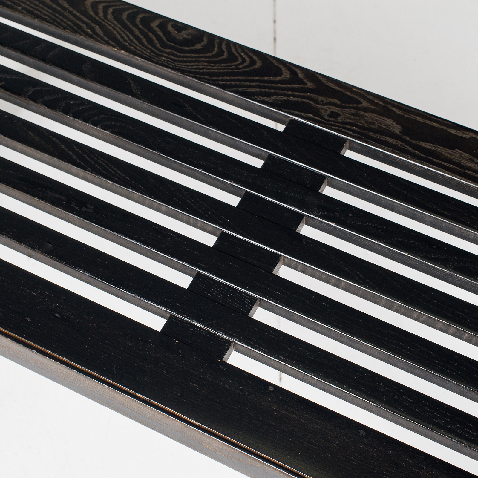 Bench In Black Timber, 1960s, The Netherlands61