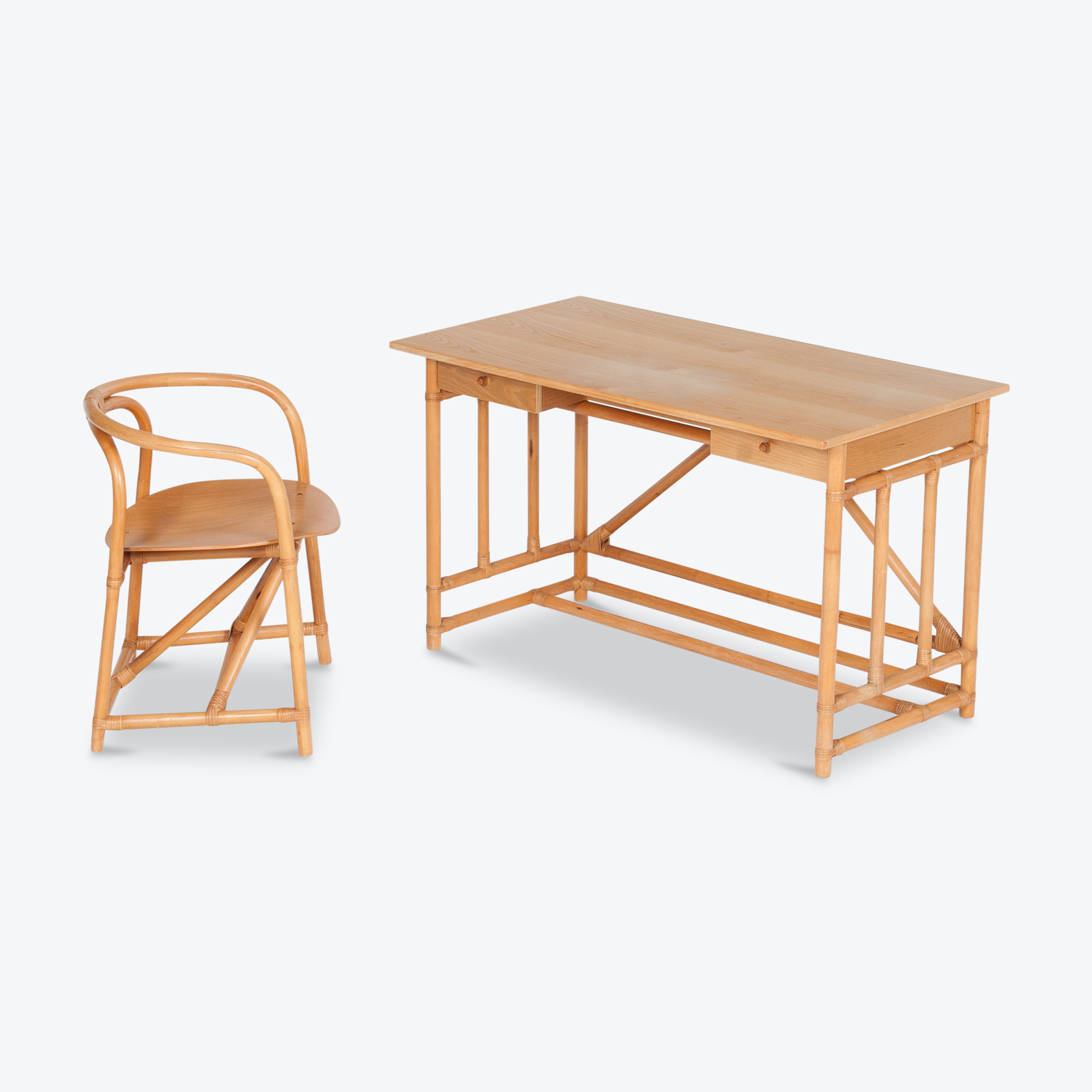 Desk And Chair In Bamboo (mt De 194 705 It)22 Copy