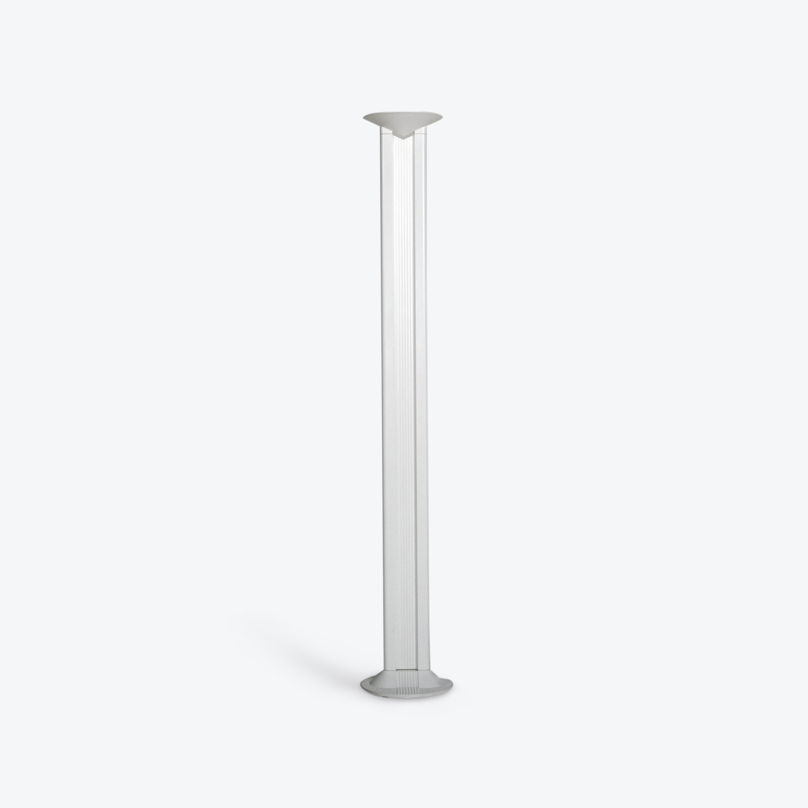 Floor Lamp In White Metal, 1950s, Italy Hero