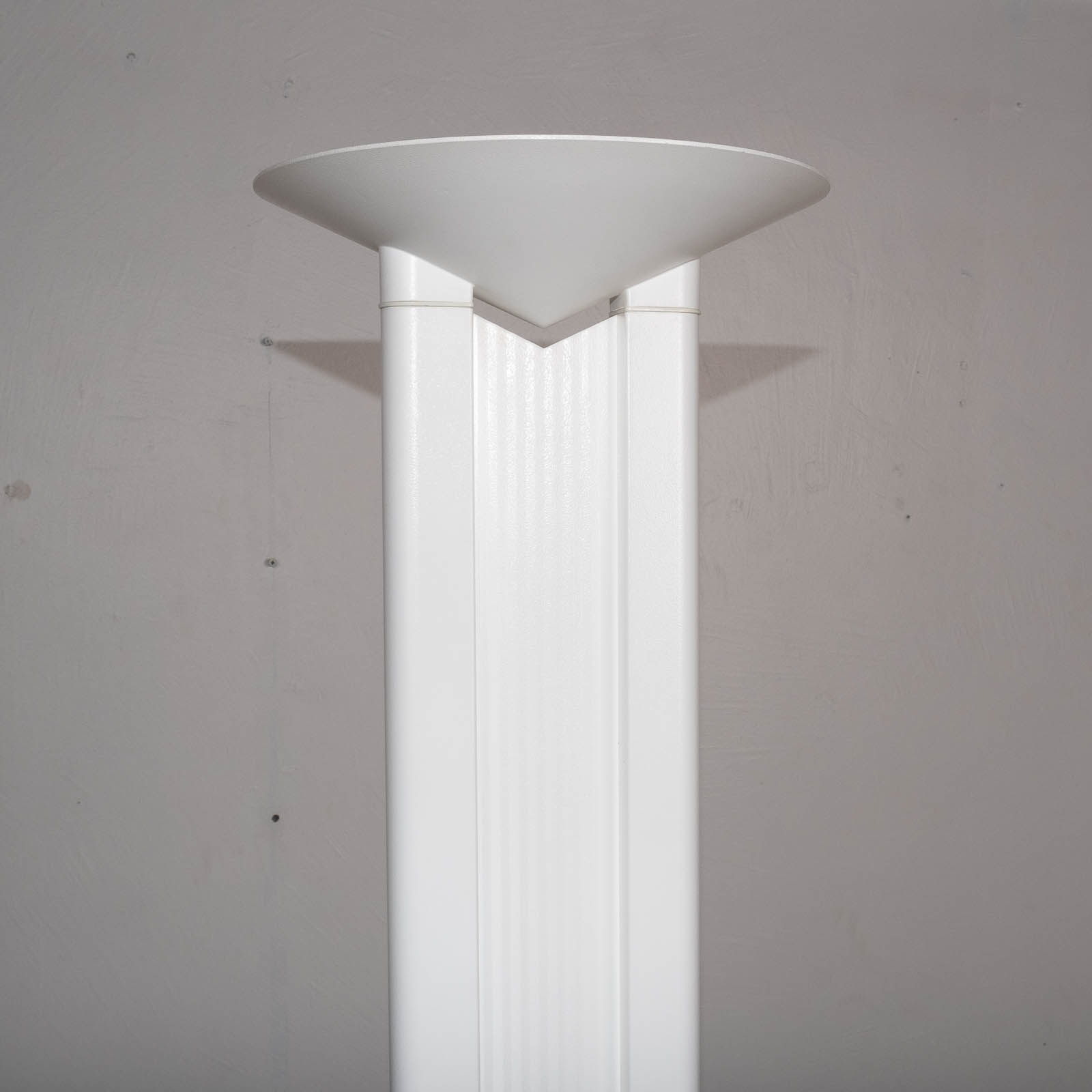 Floor Lamp In White Metal, 1950s, Italy1