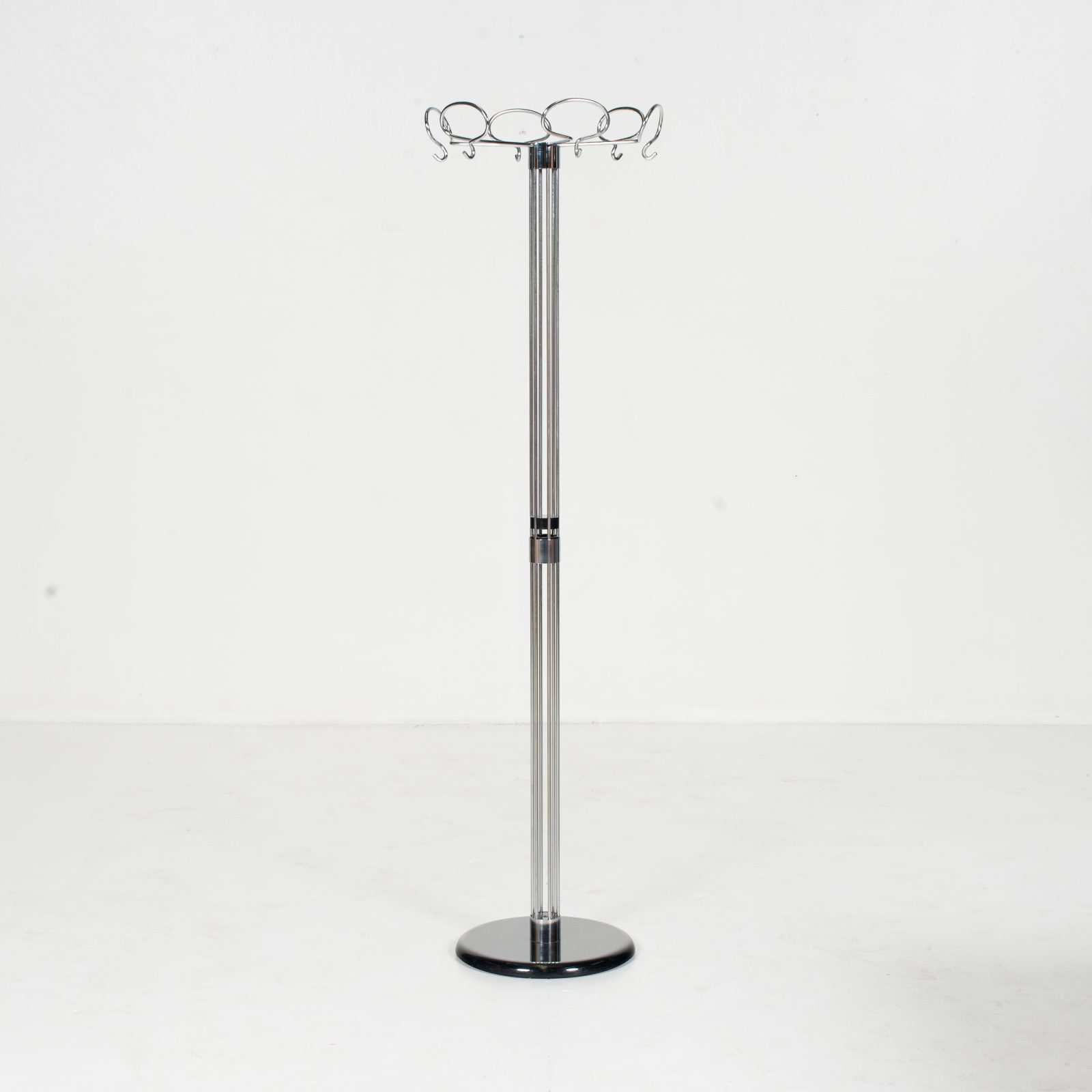 Hat Stand In Chrome And Black Steel, 1960s, Belgium64