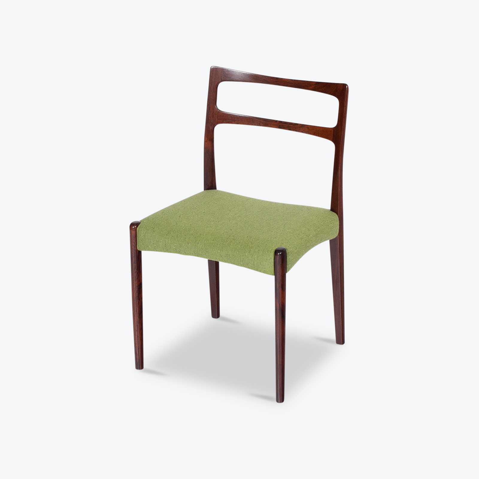 Set Of 4 Ladder Back Dining Chairs By Niels Moller In Rosewood, 1960s, Denmark Hero