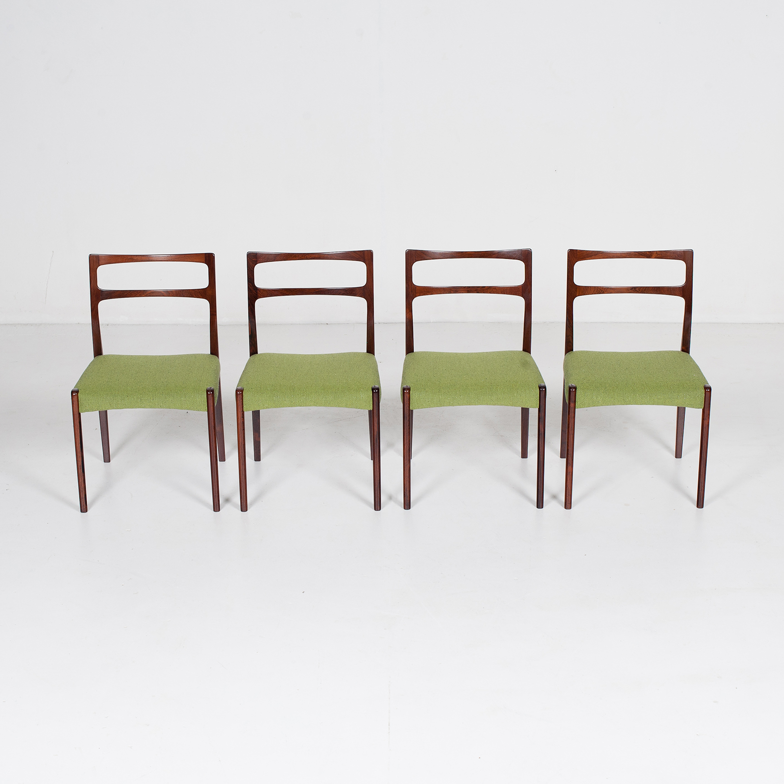 Set Of 4 Ladder Back Dining Chairs By Niels Moller In Rosewood, 1960s, Denmark34