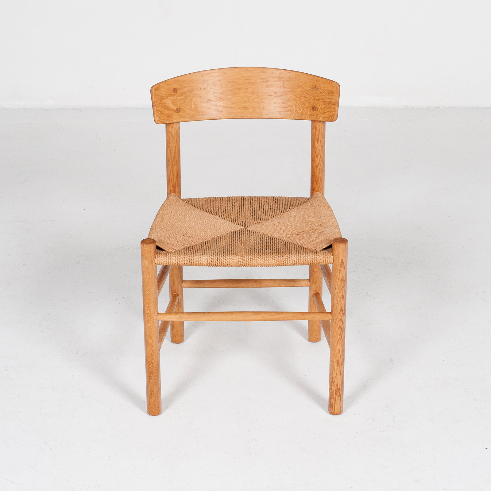 Set Of 4 Model J39 Mogensen Chairs By Borge Mogensen In Oak And Paper Cord, 1960s, Denmark86