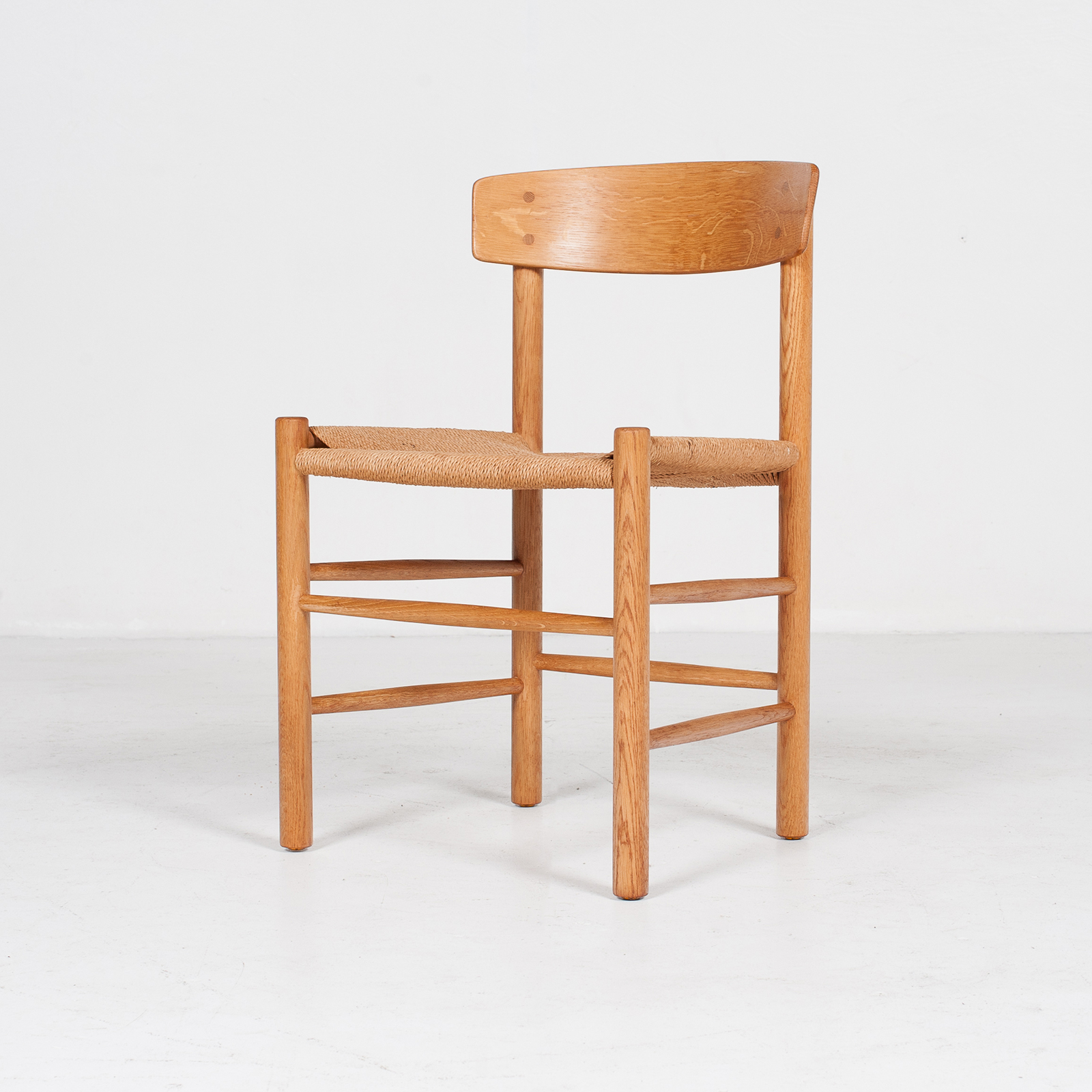 Set Of 4 Model J39 Mogensen Chairs By Borge Mogensen In Oak And Paper Cord, 1960s, Denmark87