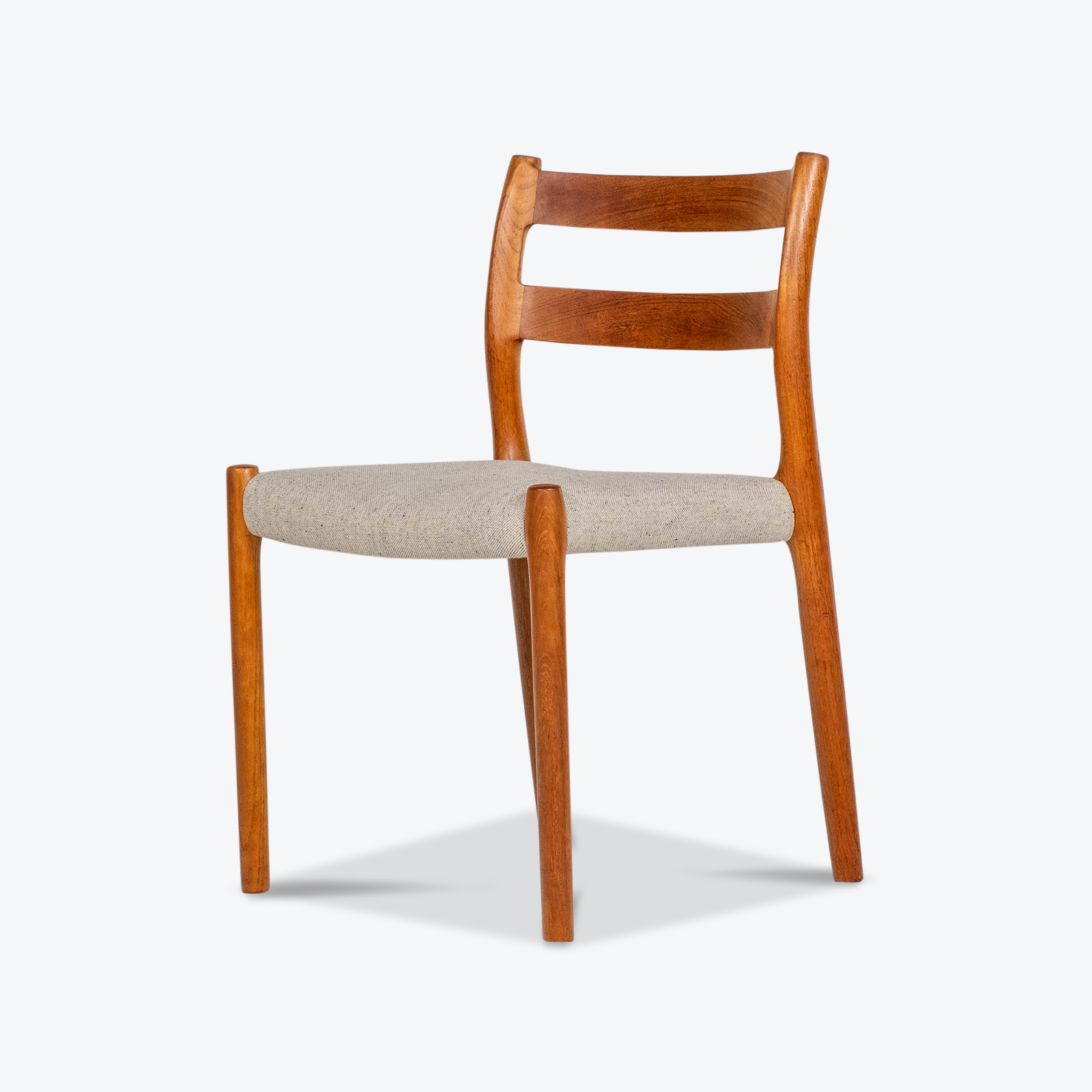 Set Of Four Ladder Back Dining Chairs By Niels Moller In Teak, 1960s, Denmark Hero