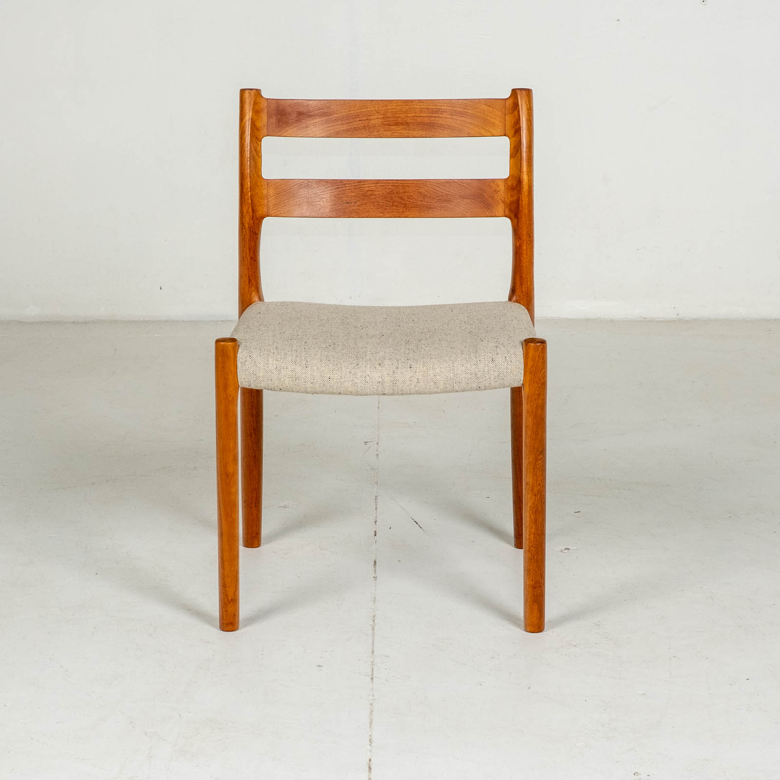 Set Of Four Ladder Back Dining Chairs By Niels Moller In Teak, 1960s, Denmark5