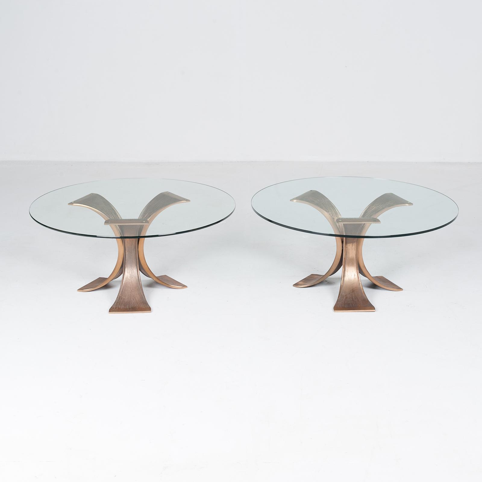 Brutalist Coffee Table In Bronze And Glass, 1970s, Belgium5