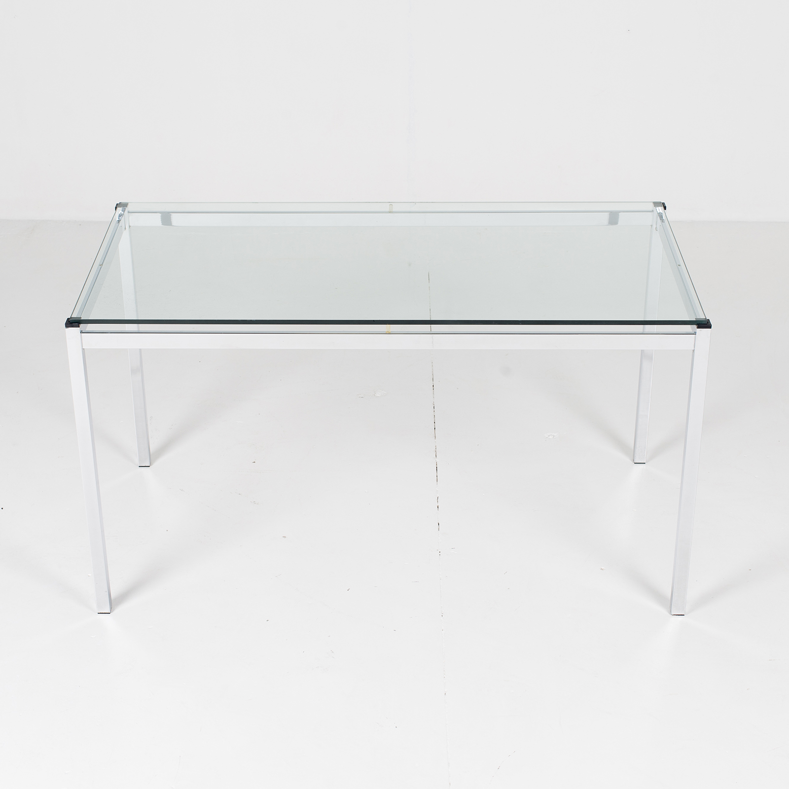 Dining Table In Glass And Chrome, 1970s, The Netherlands807