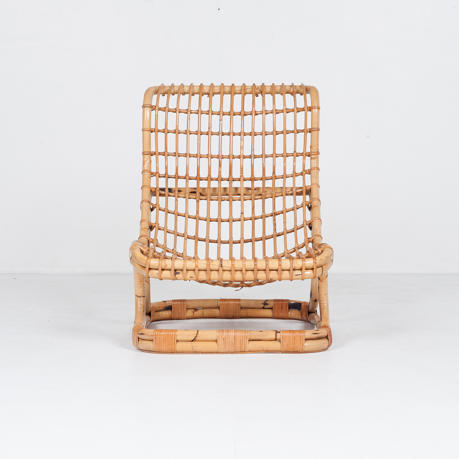 Lounge Chair By Tito Agnoli In Cane, 1960s, Italy49