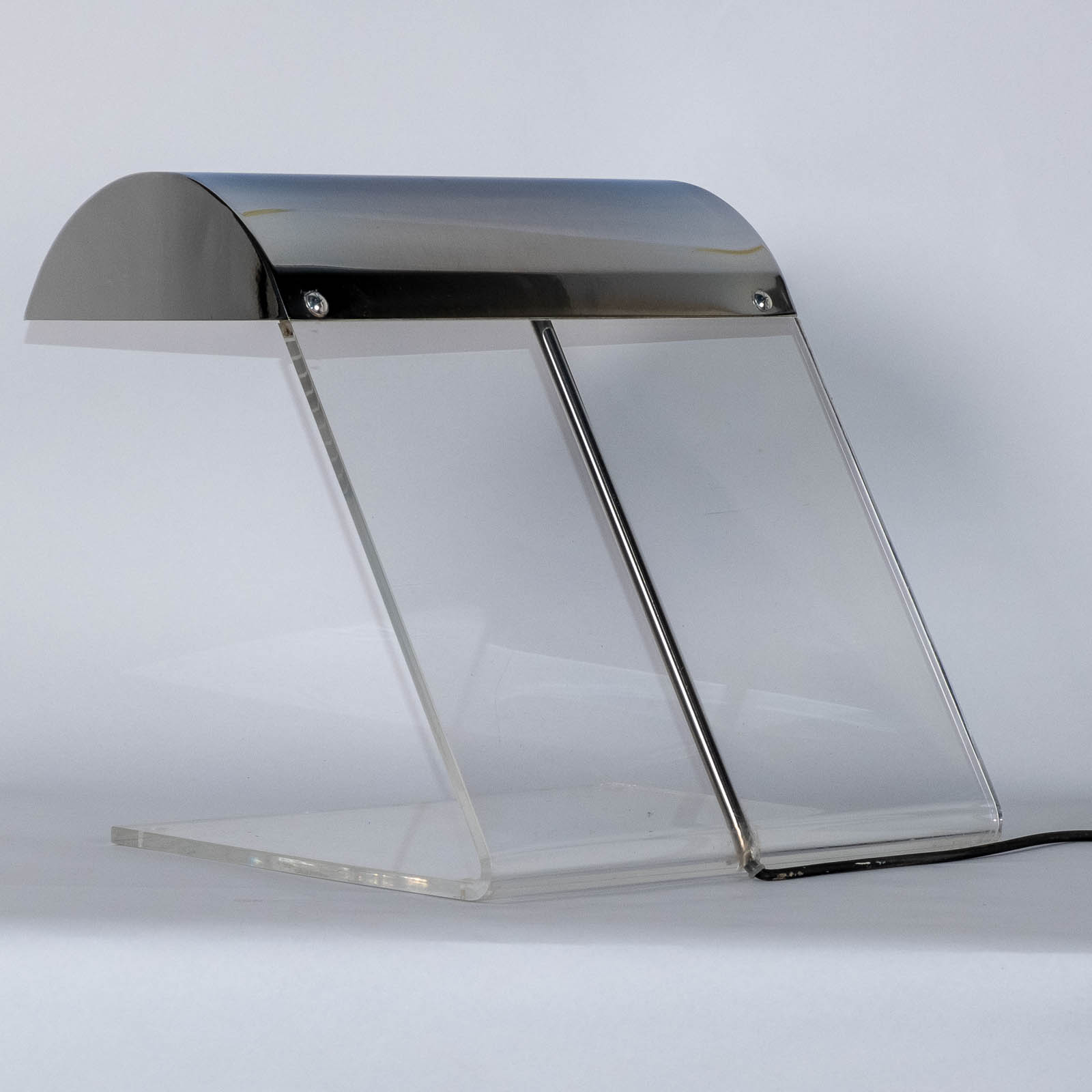 Perspex And Chrome Desk Lamp 1980s, Netherlands 00005