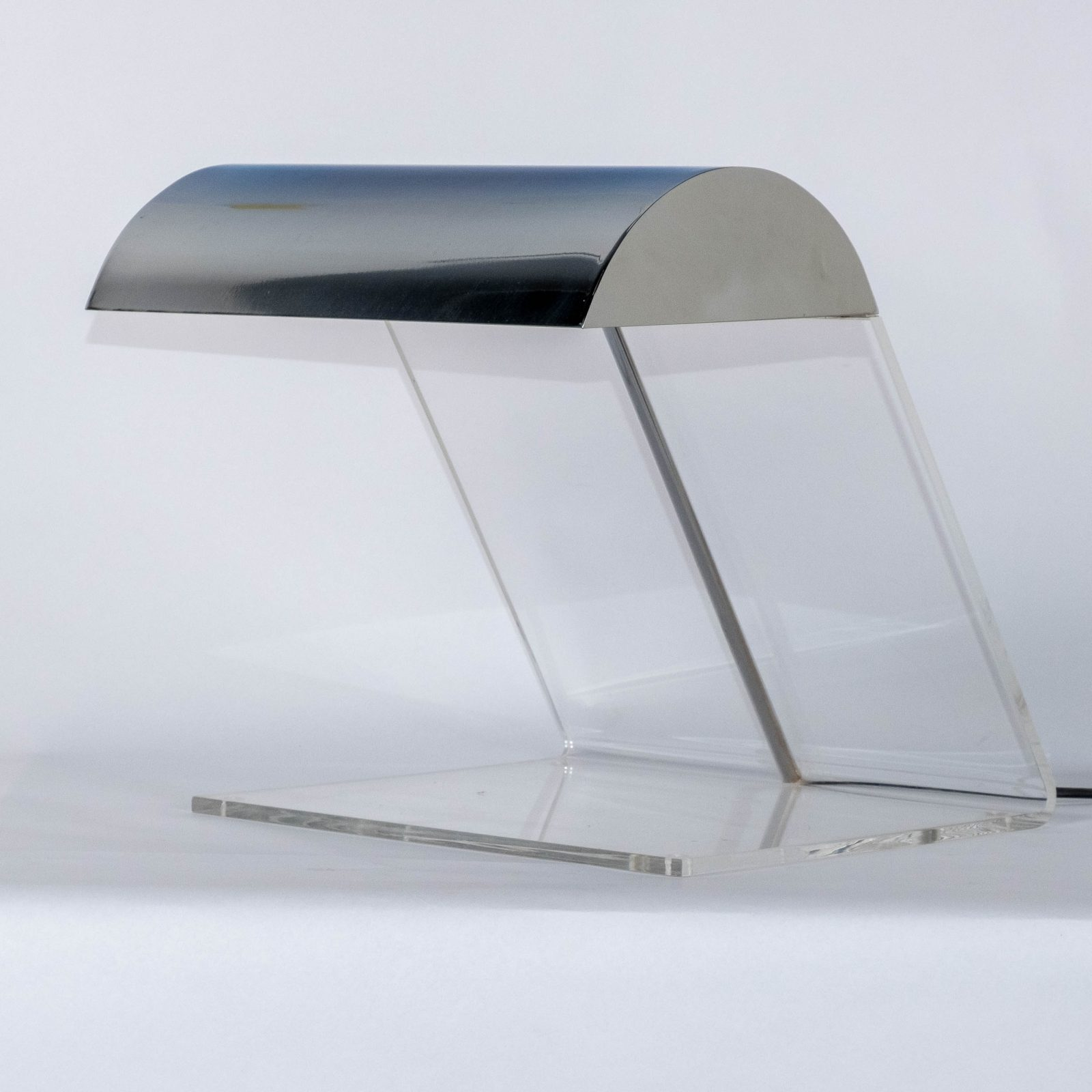 Perspex And Chrome Desk Lamp 1980s, Netherlands Hero