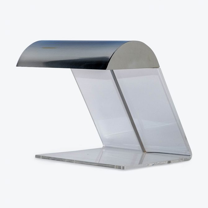Perspex And Chrome Desk Lamp 1980s, Netherlands Thumb