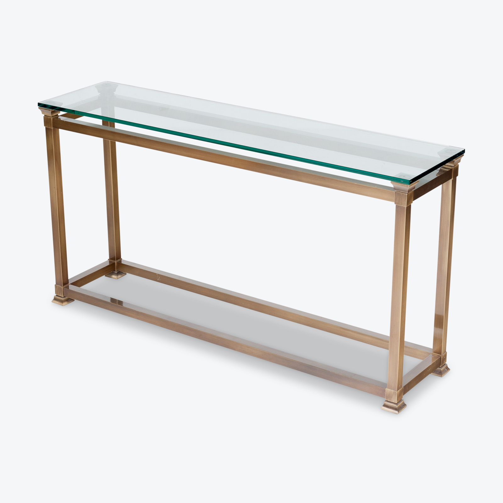 Wall Console In Brass, 1960s, The Netherlands Hero