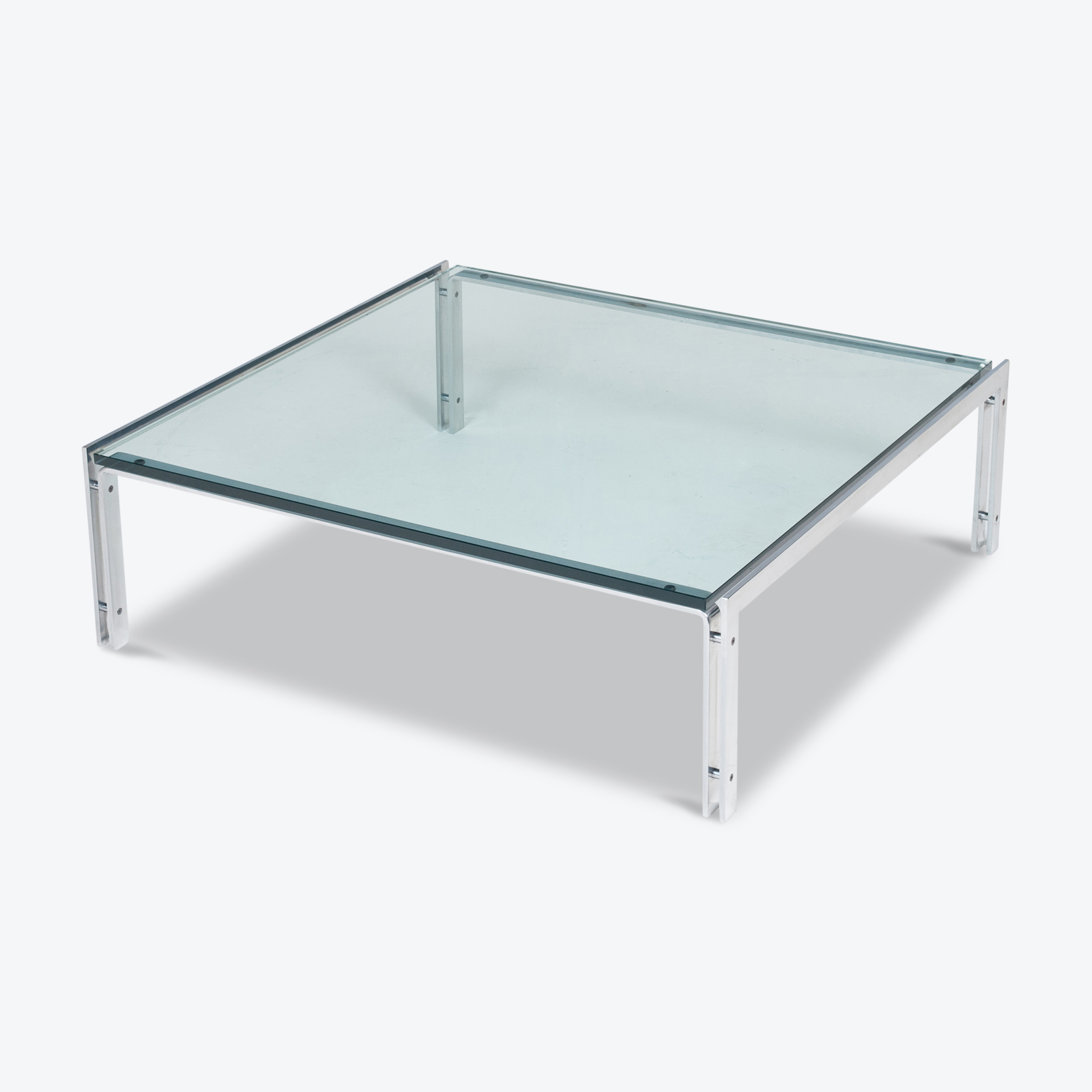Coffee Table By Metaform In Glass And Chrome, 1970s, The Netherlands Hero