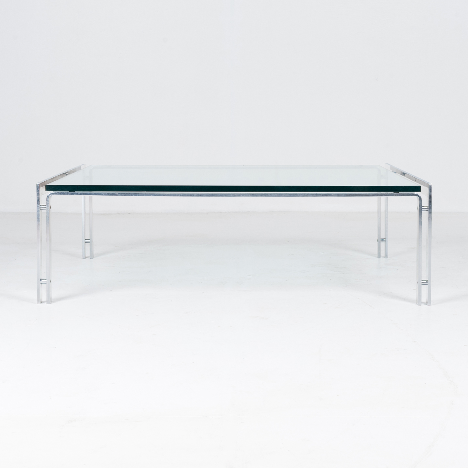 Coffee Table By Metaform In Glass And Chrome, 1970s, The Netherlands55